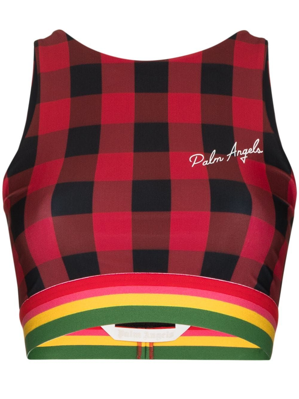 Palm Angels PALM ANGELS WOMEN'S RED POLYESTER TOP