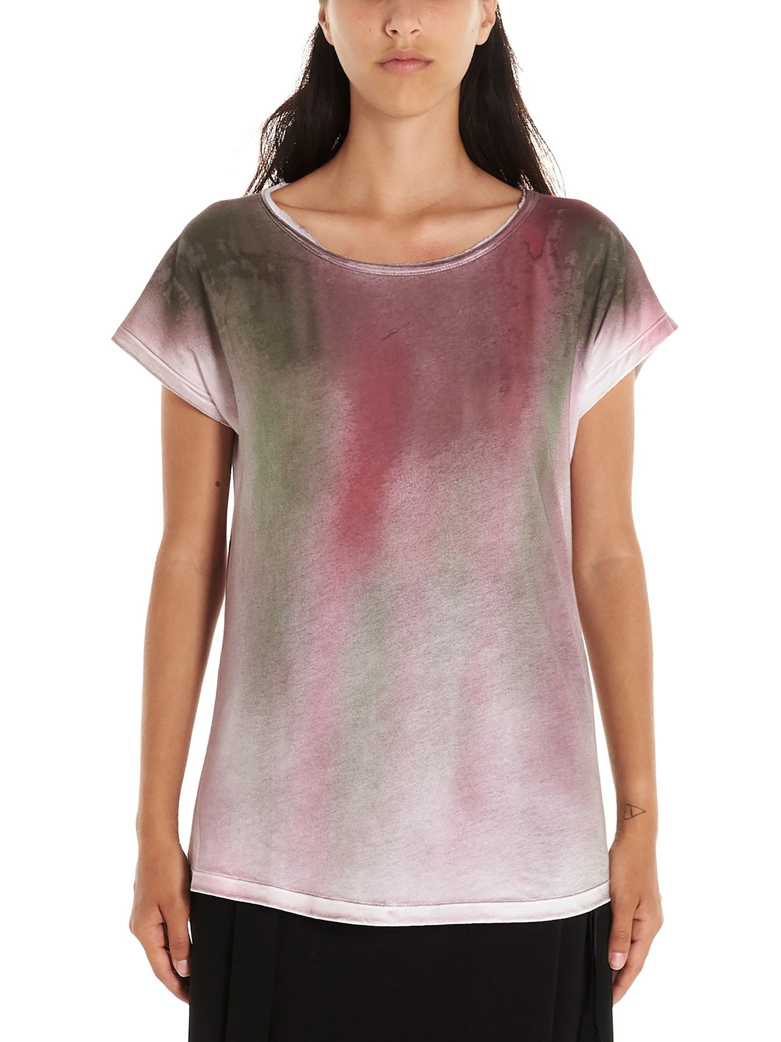 Ann Demeulemeester Hand Writing T-shirt In Multicolor