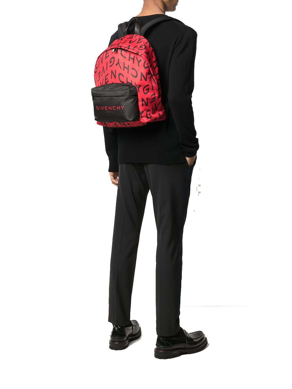 GIVENCHY Backpacks GIVENCHY MEN'S RED POLYESTER BACKPACK