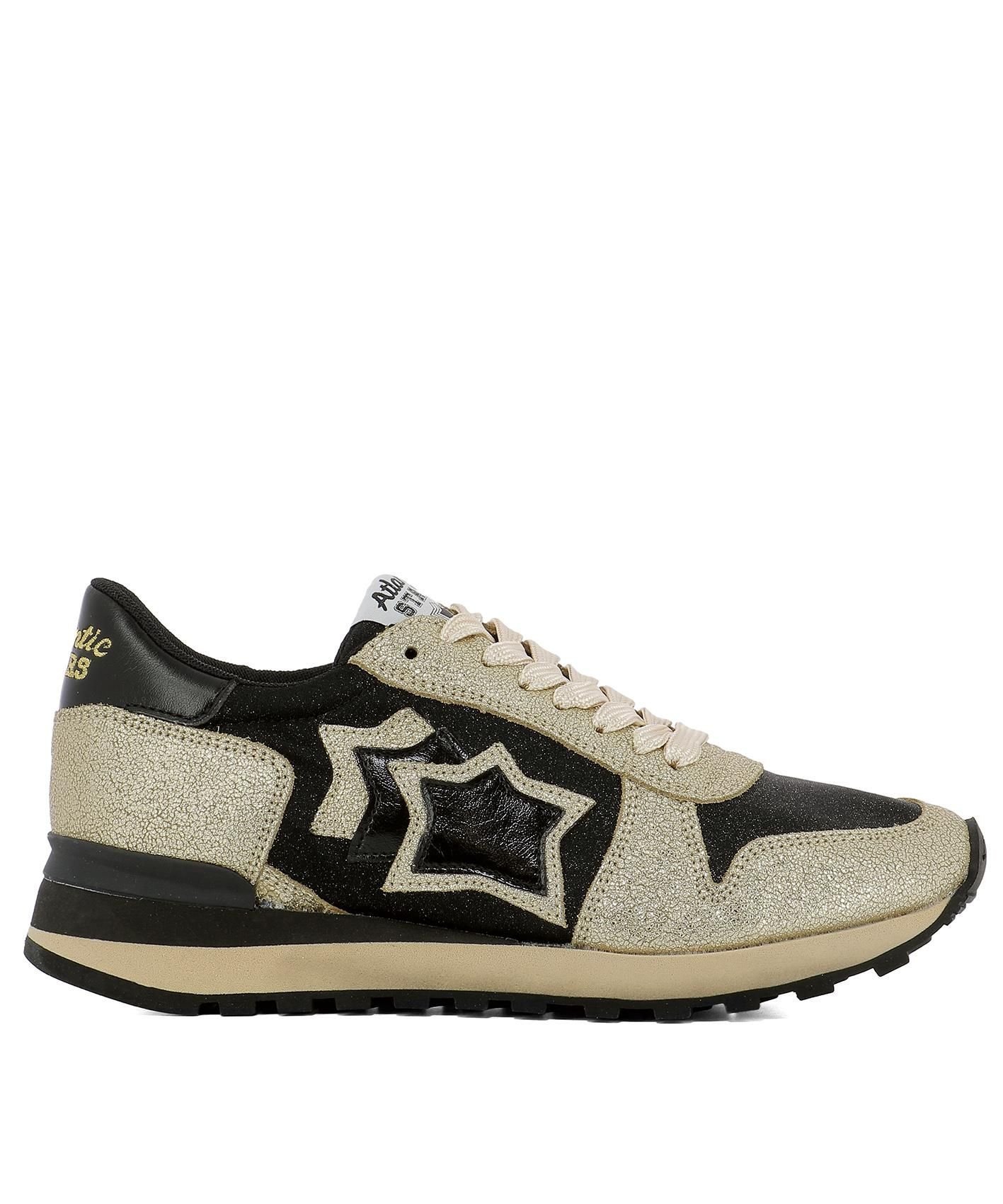 Atlantic Stars GOLD LEATHER SNEAKERS