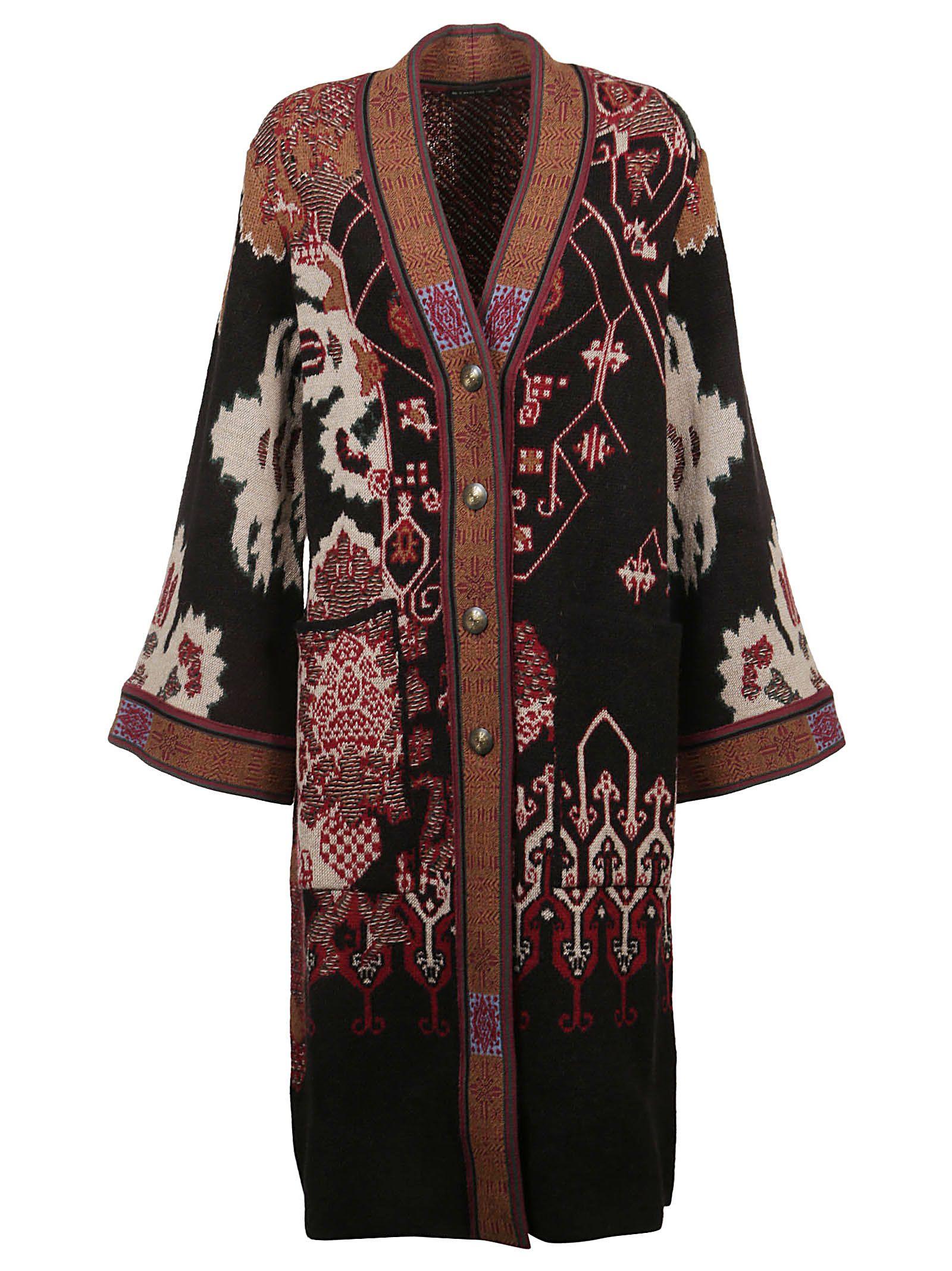 Etro Multicolor Wool Coat