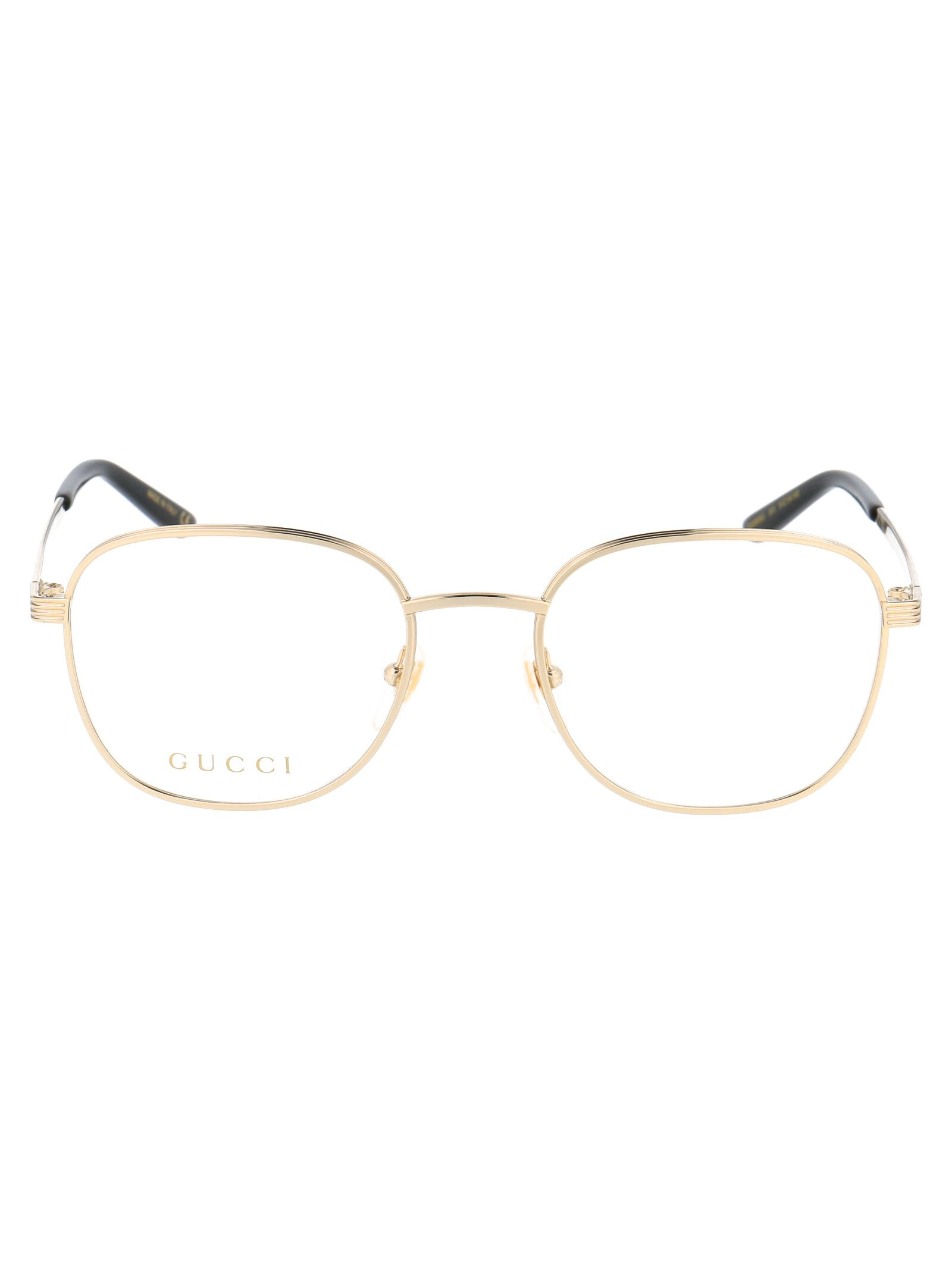 Gucci GUCCI WOMEN'S BROWN METAL GLASSES