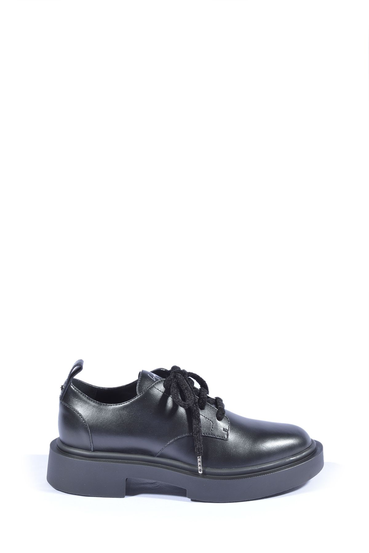 Giuseppe Zanotti GIUSEPPE ZANOTTI DESIGN MEN'S BLACK LEATHER LACE-UP SHOES