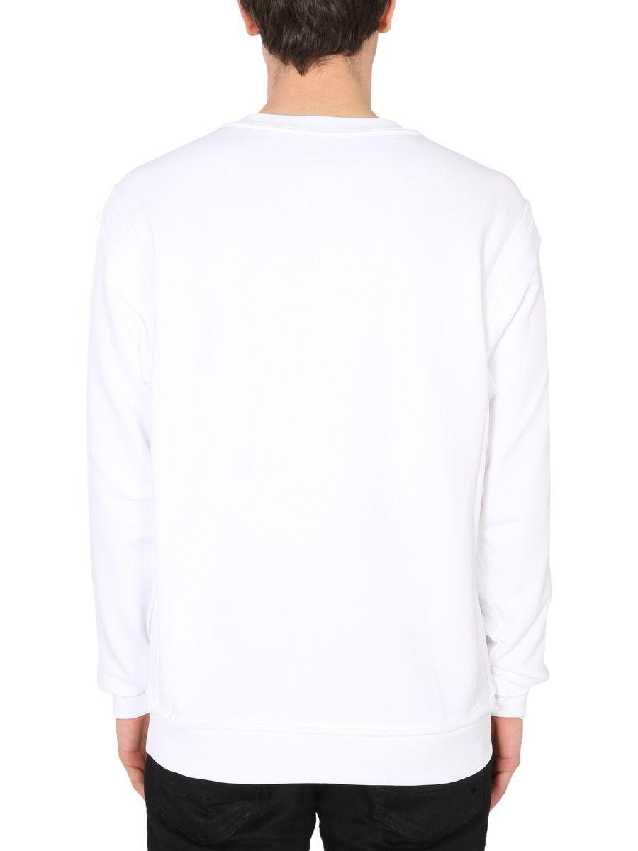 MOSCHINO Cottons MOSCHINO MEN'S WHITE OTHER MATERIALS SWEATSHIRT