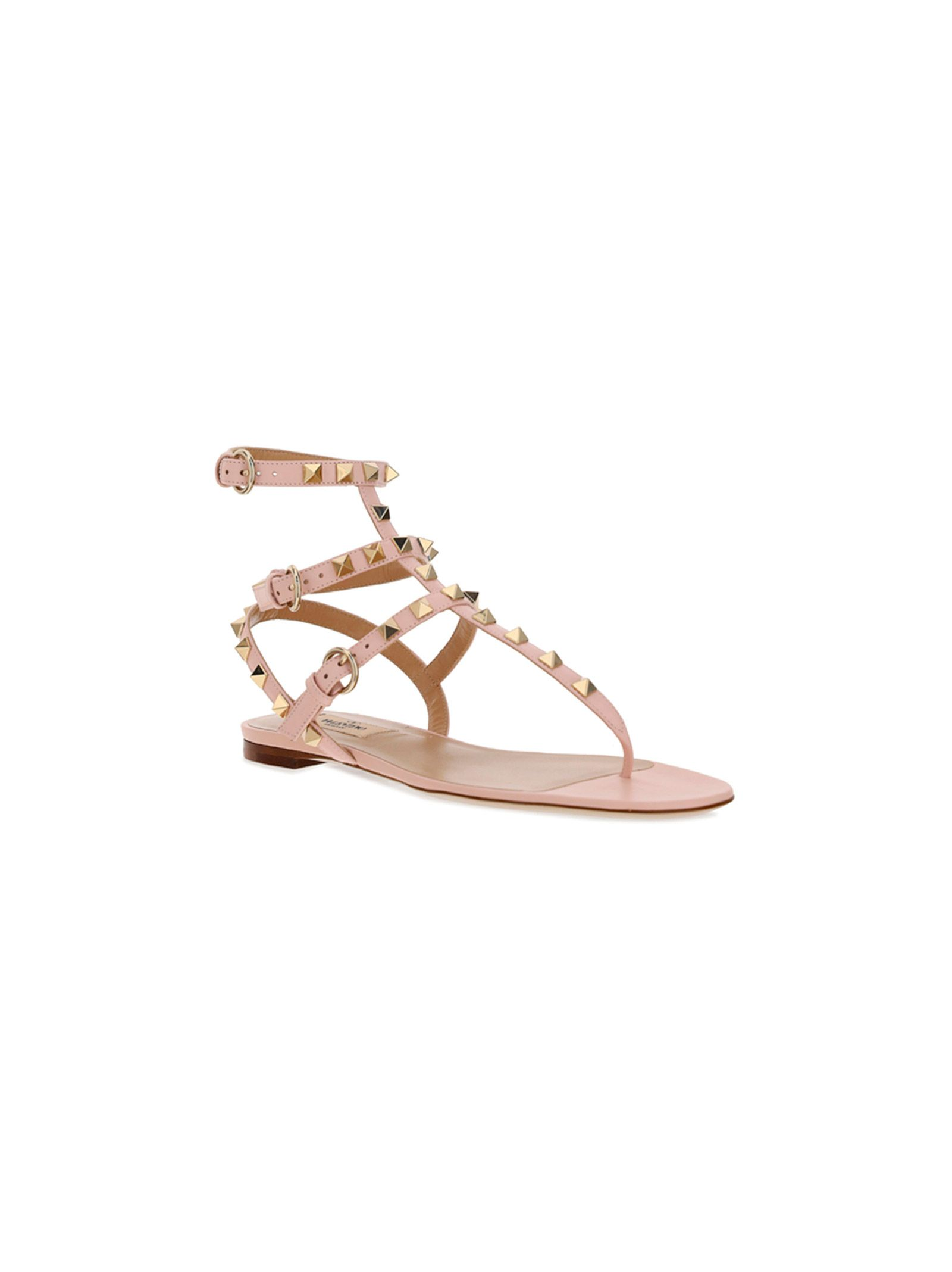 VALENTINO Leathers VALENTINO GARAVANI WOMEN'S PINK OTHER MATERIALS SANDALS