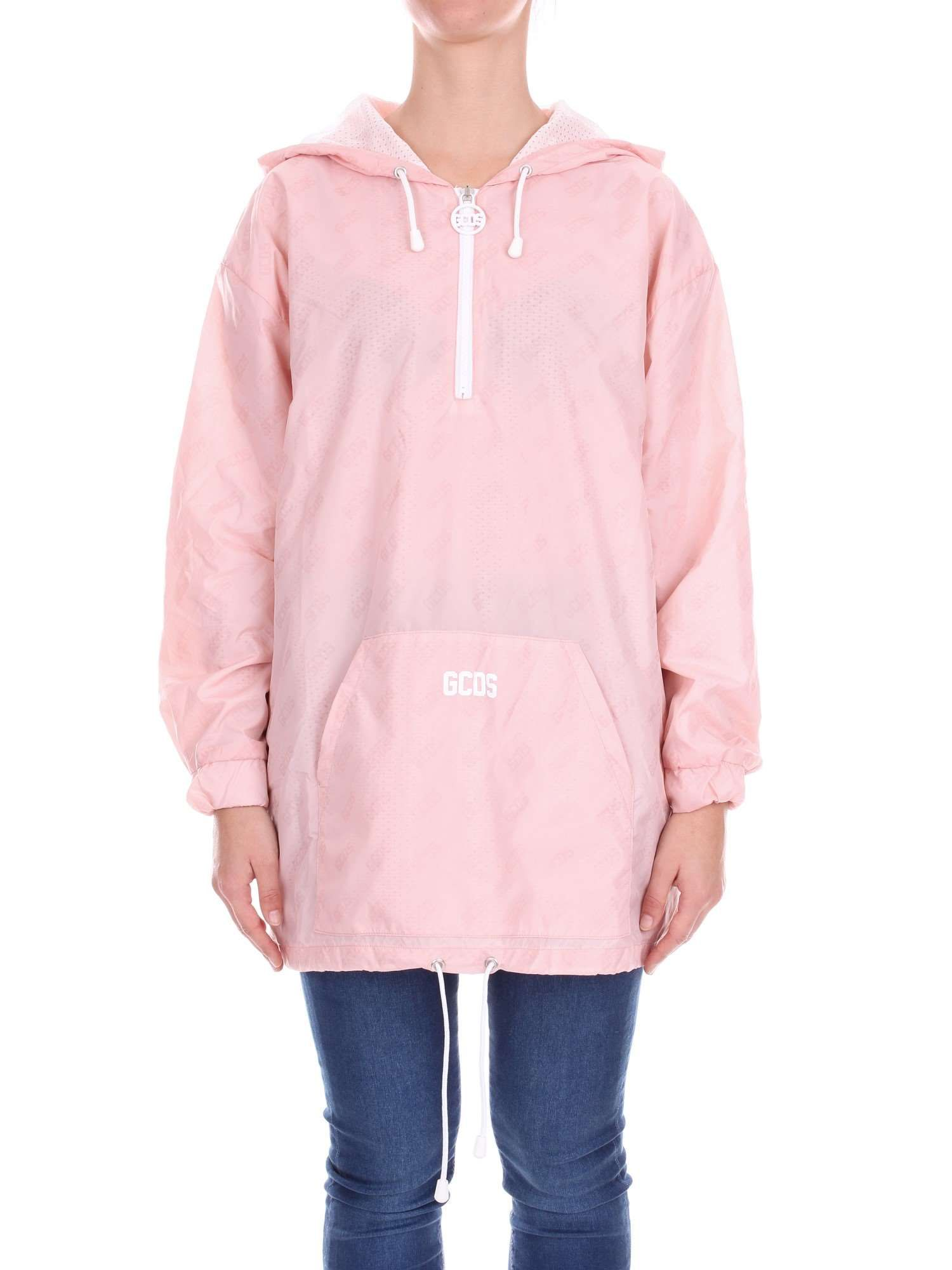 Gcds Pink Polyester Outerwear Jacket