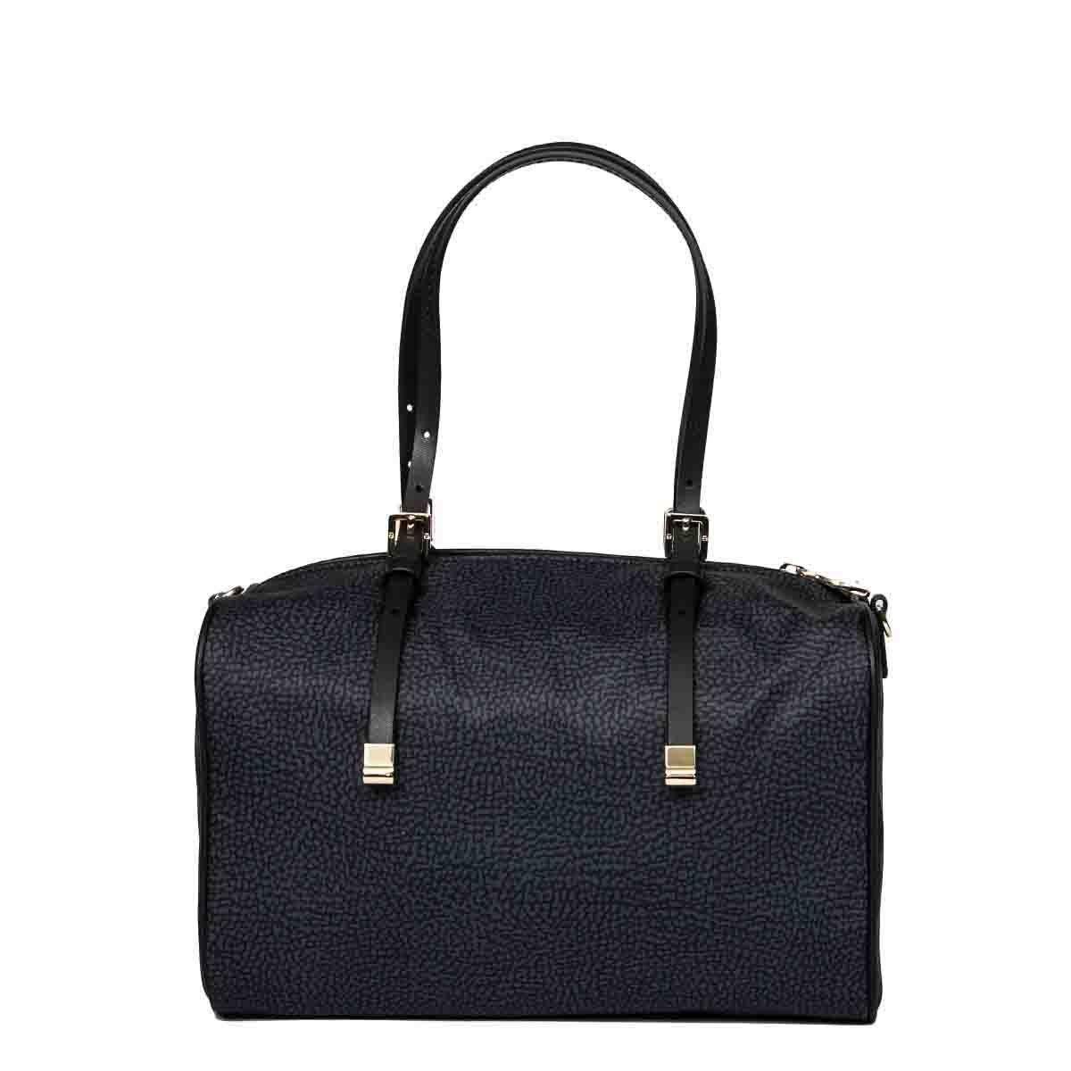 Borbonese Handbags BORBONESE WOMEN'S BLACK POLYESTER HANDBAG