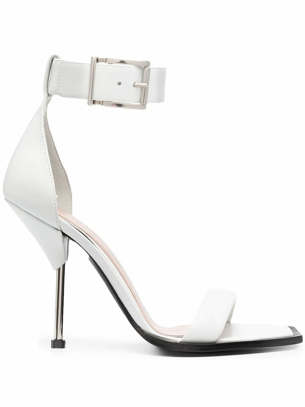 Alexander Mcqueen ALEXANDER MCQUEEN WOMEN'S WHITE LEATHER SANDALS