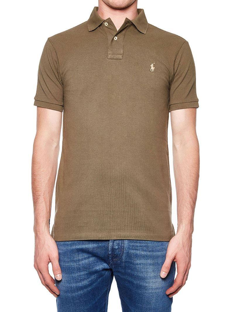 53ecdaf4 Green Cotton Polo Shirt