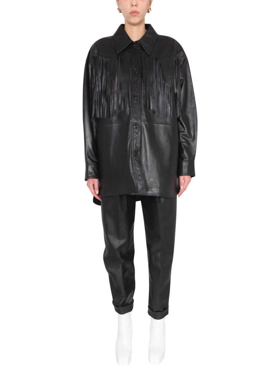 Stand Studio Jackets STAND WOMEN'S BLACK LEATHER OUTERWEAR JACKET