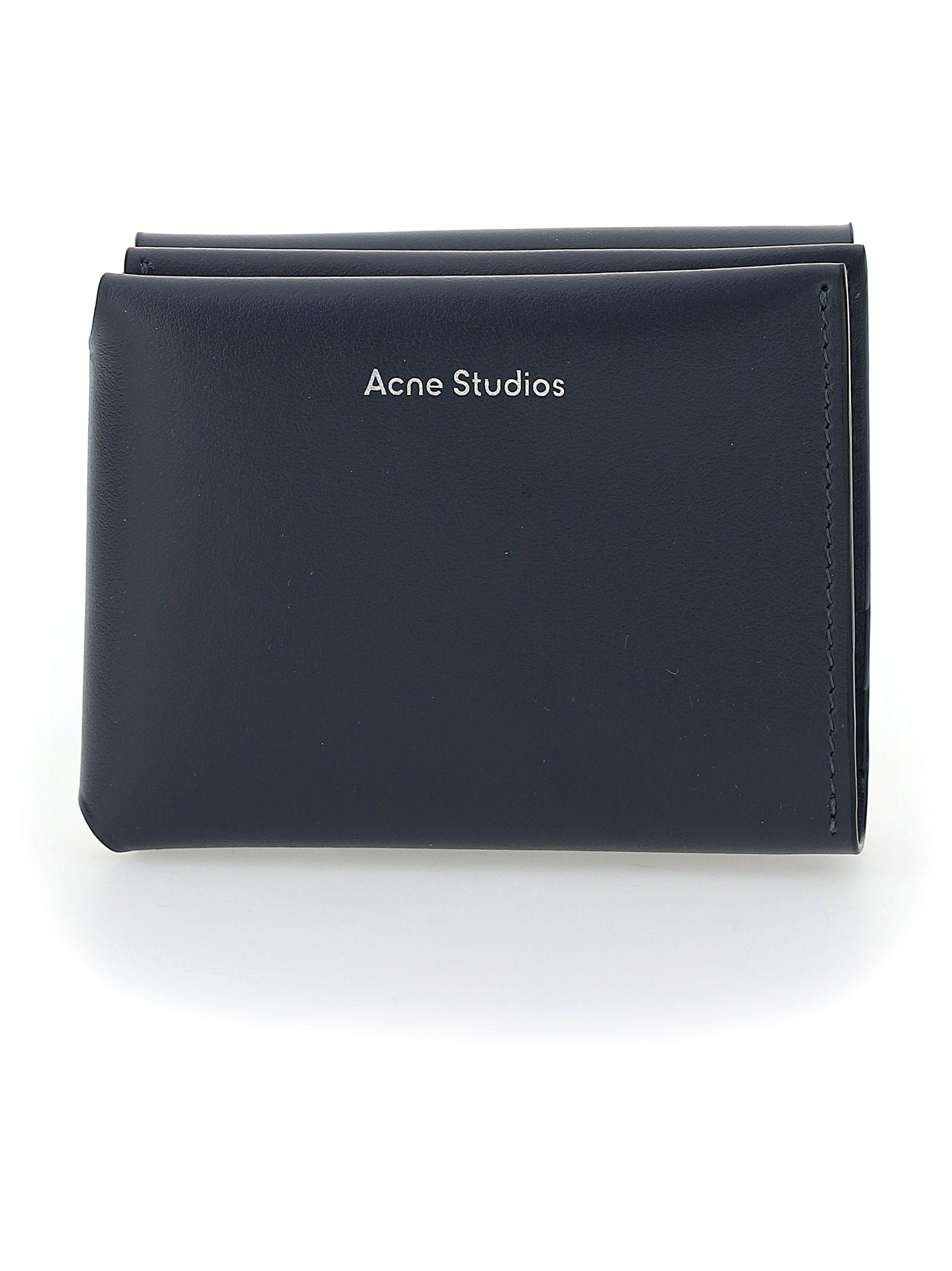 Acne Studios ACNE STUDIOS MEN'S BLUE OTHER MATERIALS WALLET