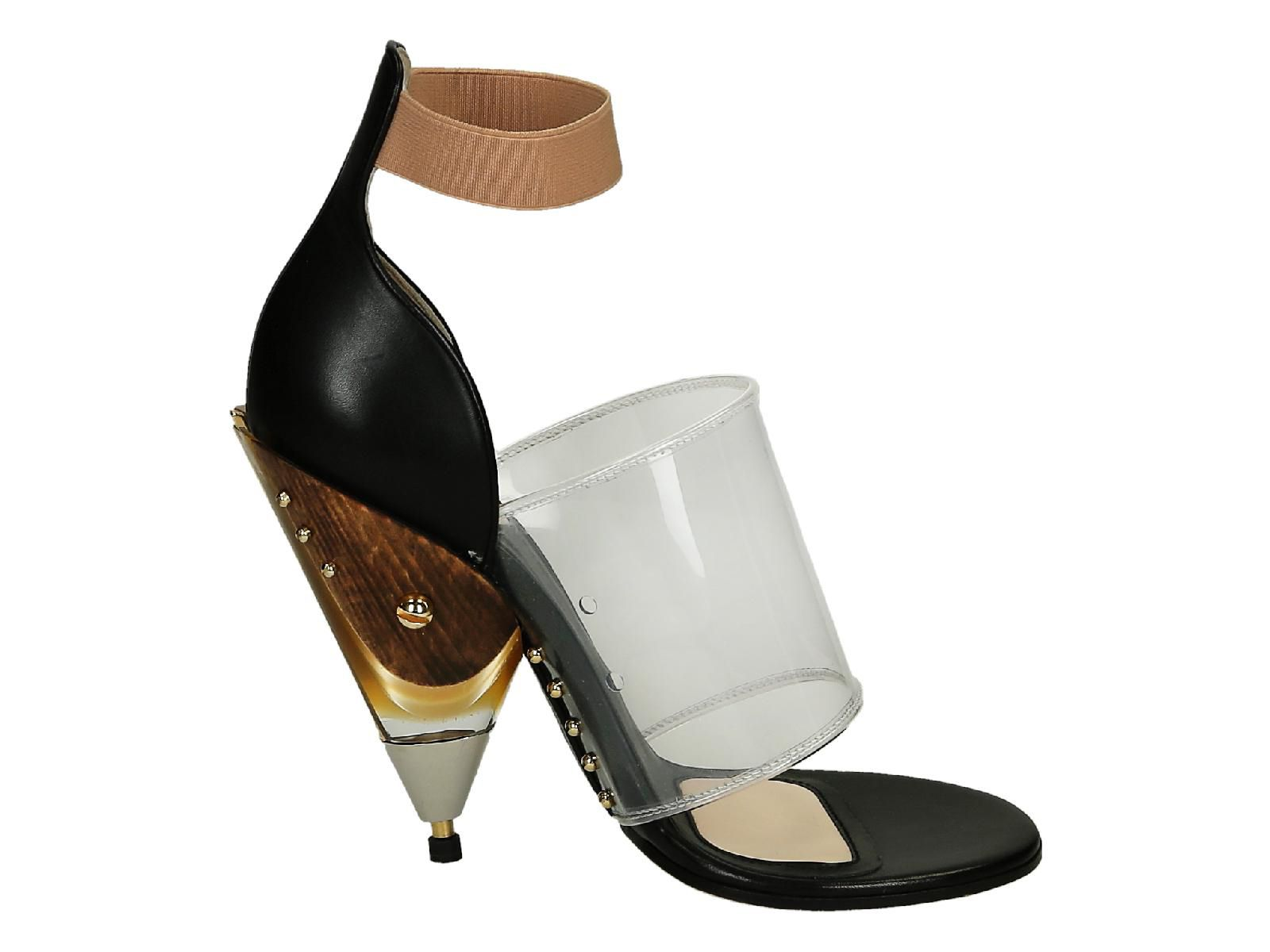 GIVENCHY BLACK LEATHER SANDALS,535945451748
