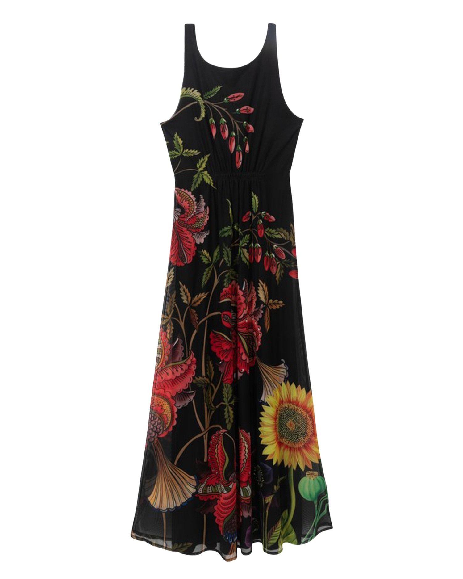 Desigual Dresses DESIGUAL WOMEN'S BLACK POLYESTER DRESS