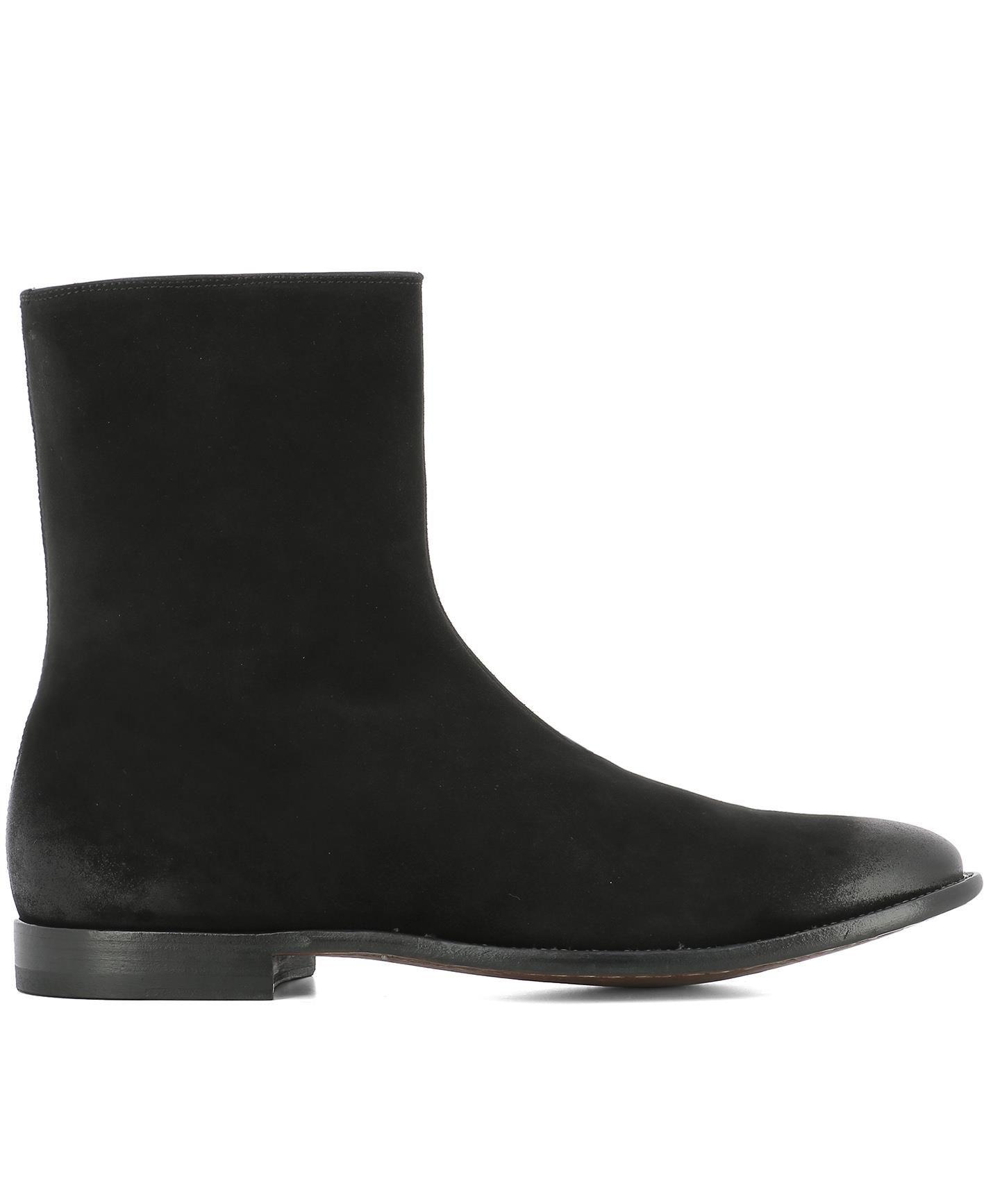 Alexander Mcqueen Men's Dream Suede Ankle Boot In Black