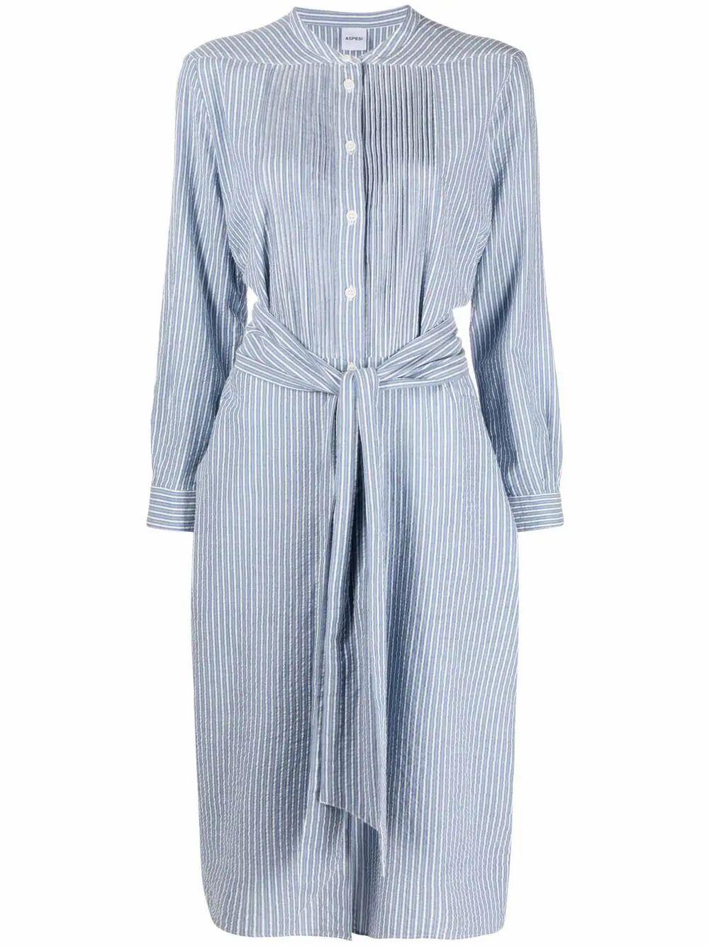 Aspesi ASPESI WOMEN'S BLUE COTTON DRESS