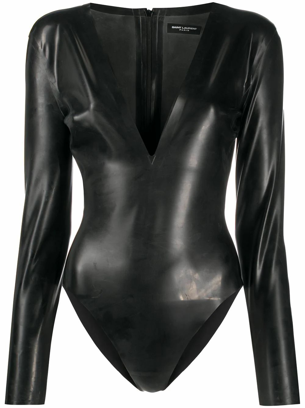 Saint Laurent SAINT LAURENT WOMEN'S BLACK RUBBER BODYSUIT