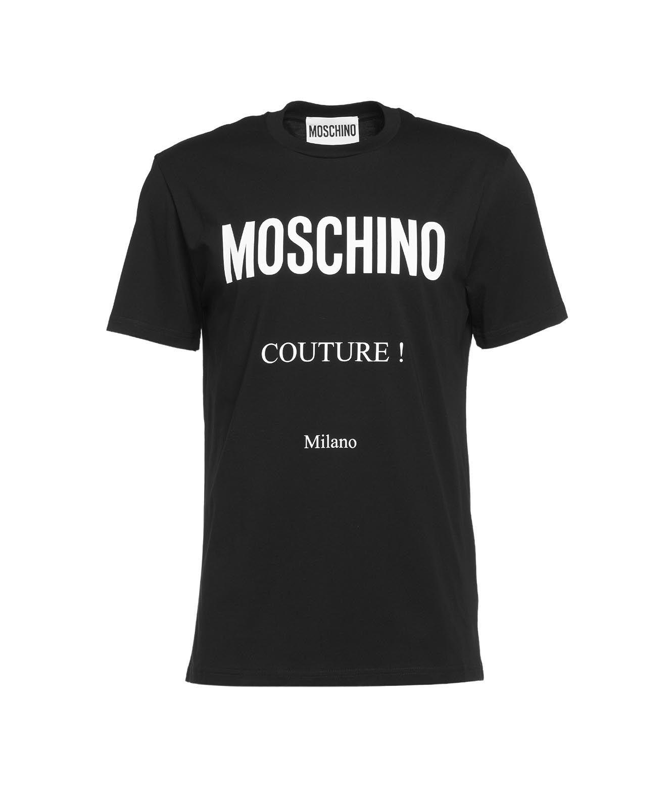 Moschino T-shirts MOSCHINO MEN'S BLACK OTHER MATERIALS T-SHIRT