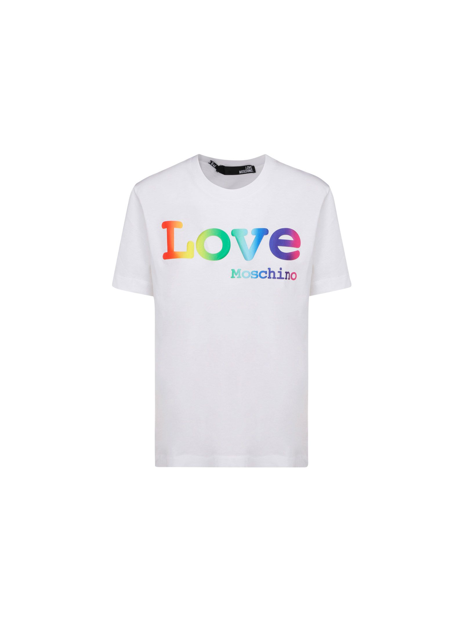 LOVE MOSCHINO LOVE MOSCHINO WOMEN'S WHITE OTHER MATERIALS T-SHIRT