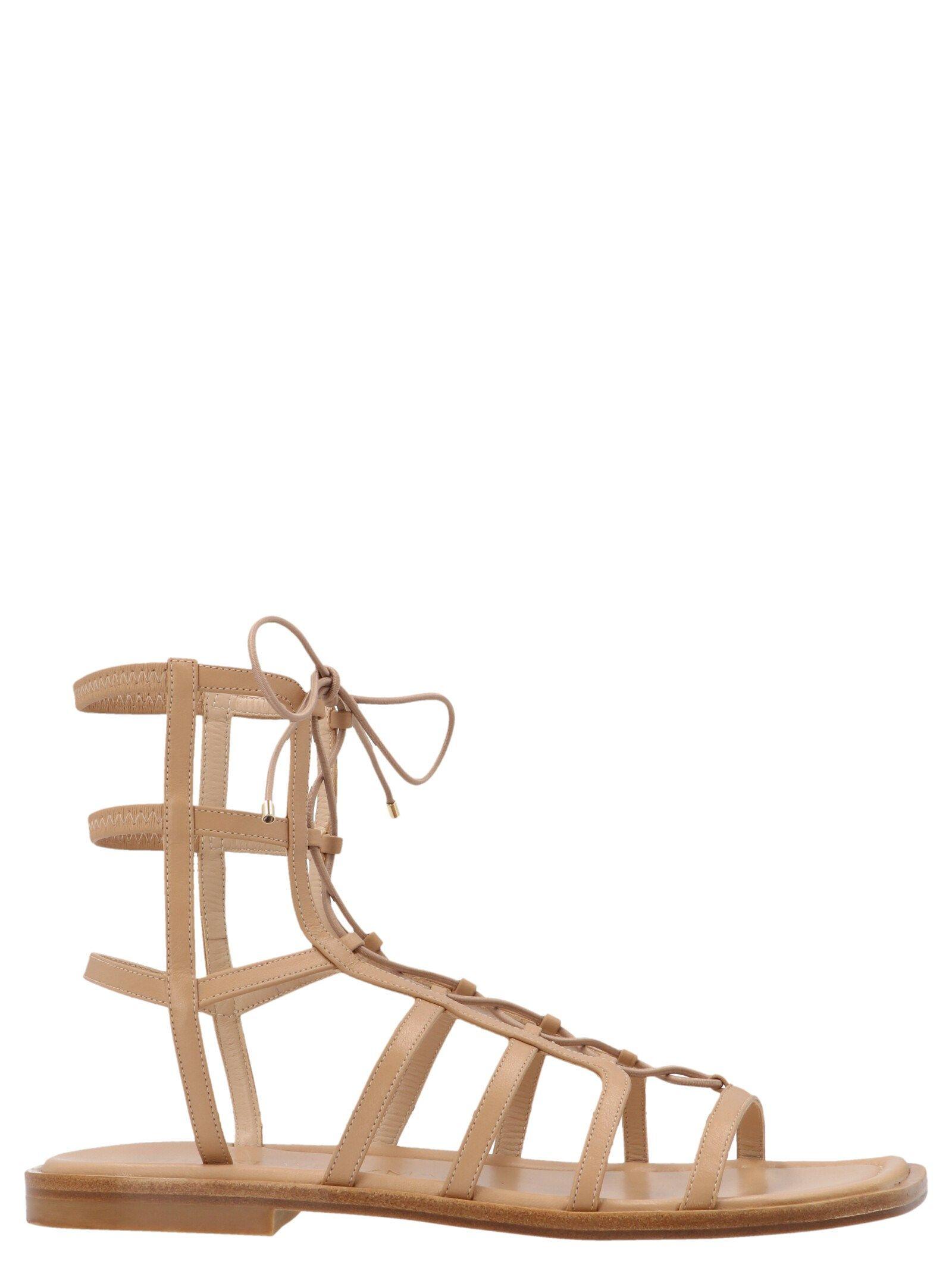 Stuart Weitzman Women's Beige Other Materials Sandals