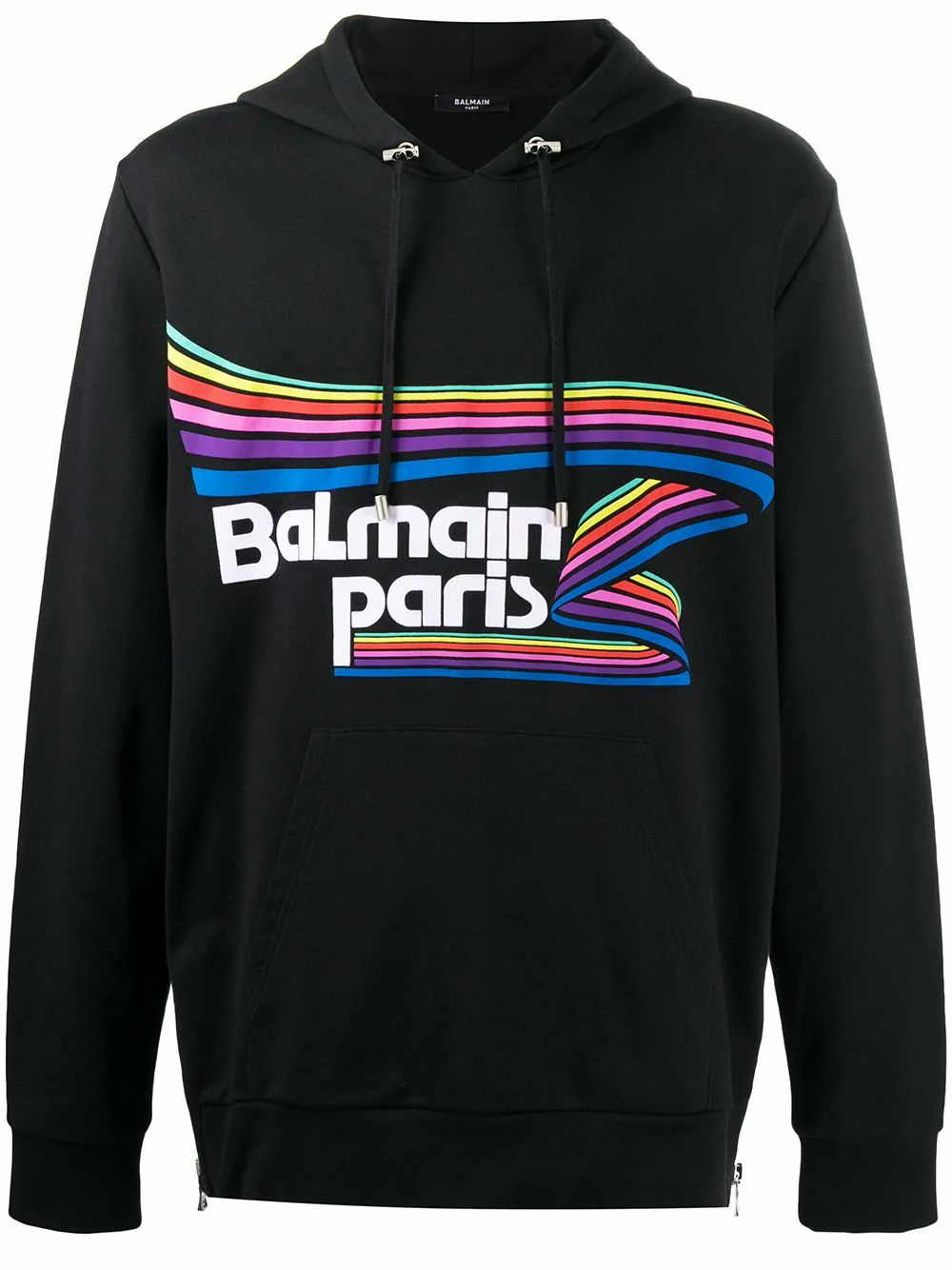 Balmain BALMAIN MEN'S BLACK COTTON SWEATSHIRT