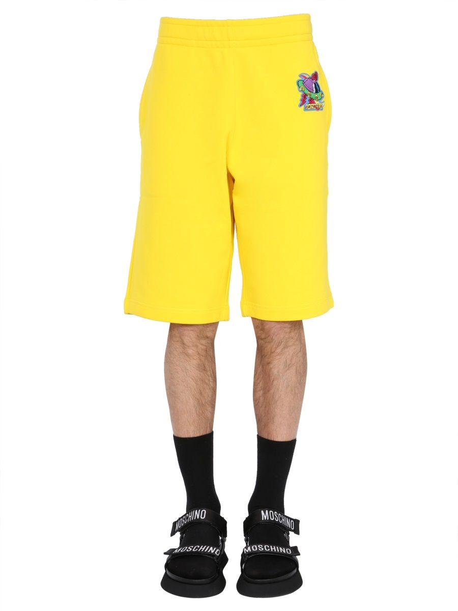 Moschino Cottons MOSCHINO MEN'S YELLOW OTHER MATERIALS SHORTS