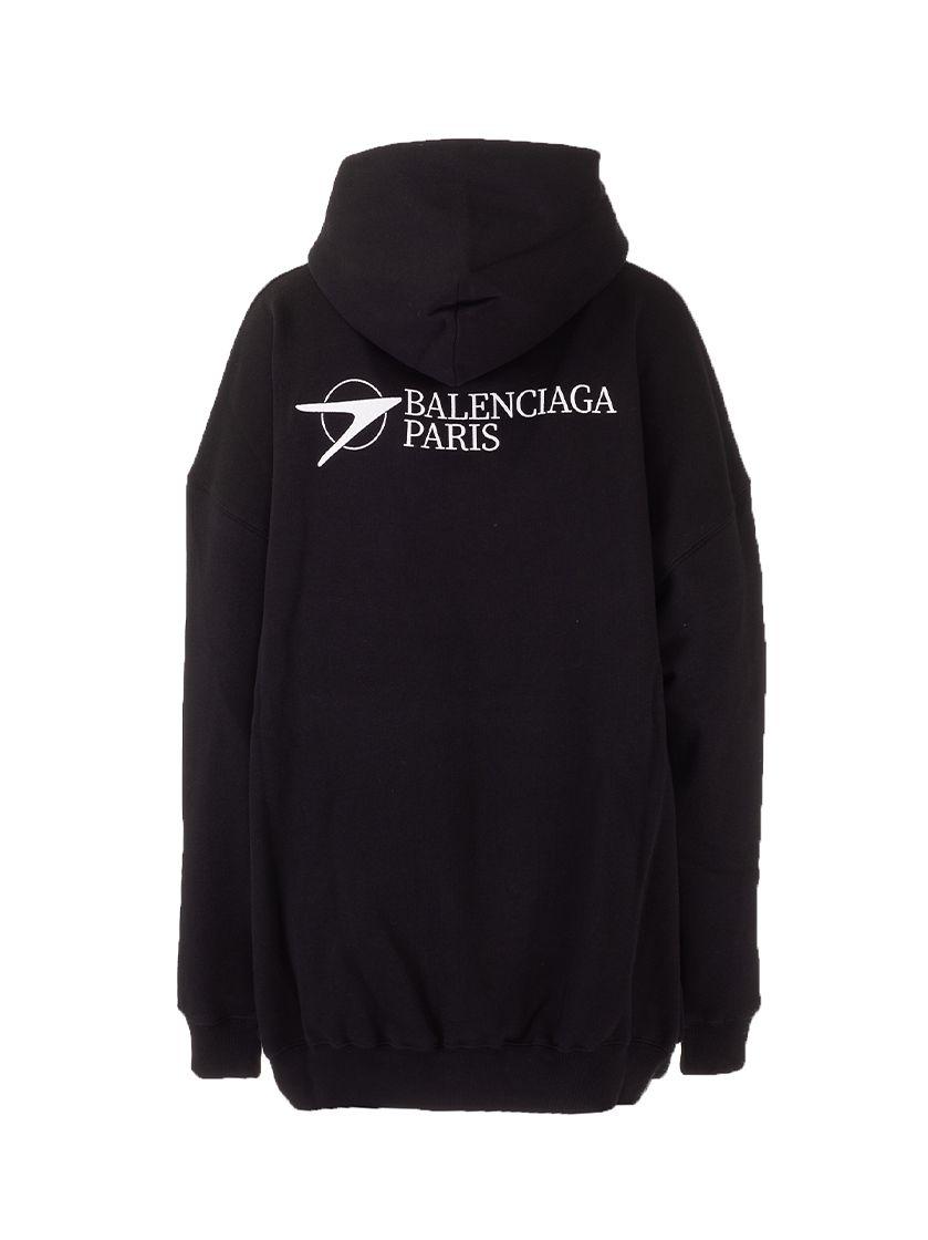 BALENCIAGA Sweatshirts BALENCIAGA WOMEN'S BLACK OTHER MATERIALS SWEATSHIRT