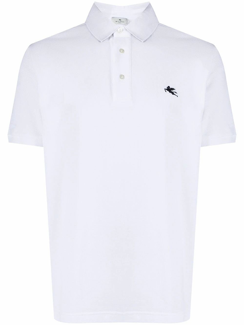 Etro ETRO MEN'S WHITE COTTON POLO SHIRT