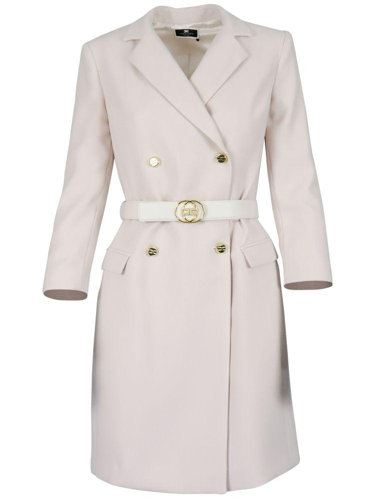 Elisabetta Franchi ELISABETTA FRANCHI WOMEN'S WHITE OTHER MATERIALS DRESS