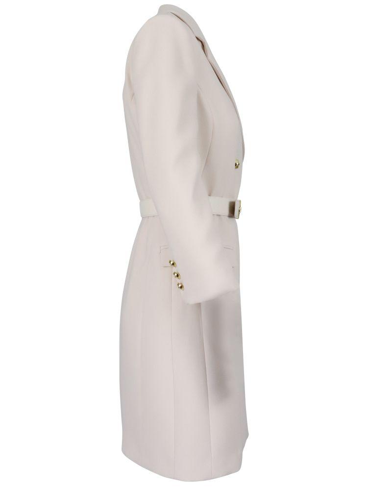 ELISABETTA FRANCHI Dresses ELISABETTA FRANCHI WOMEN'S WHITE OTHER MATERIALS DRESS