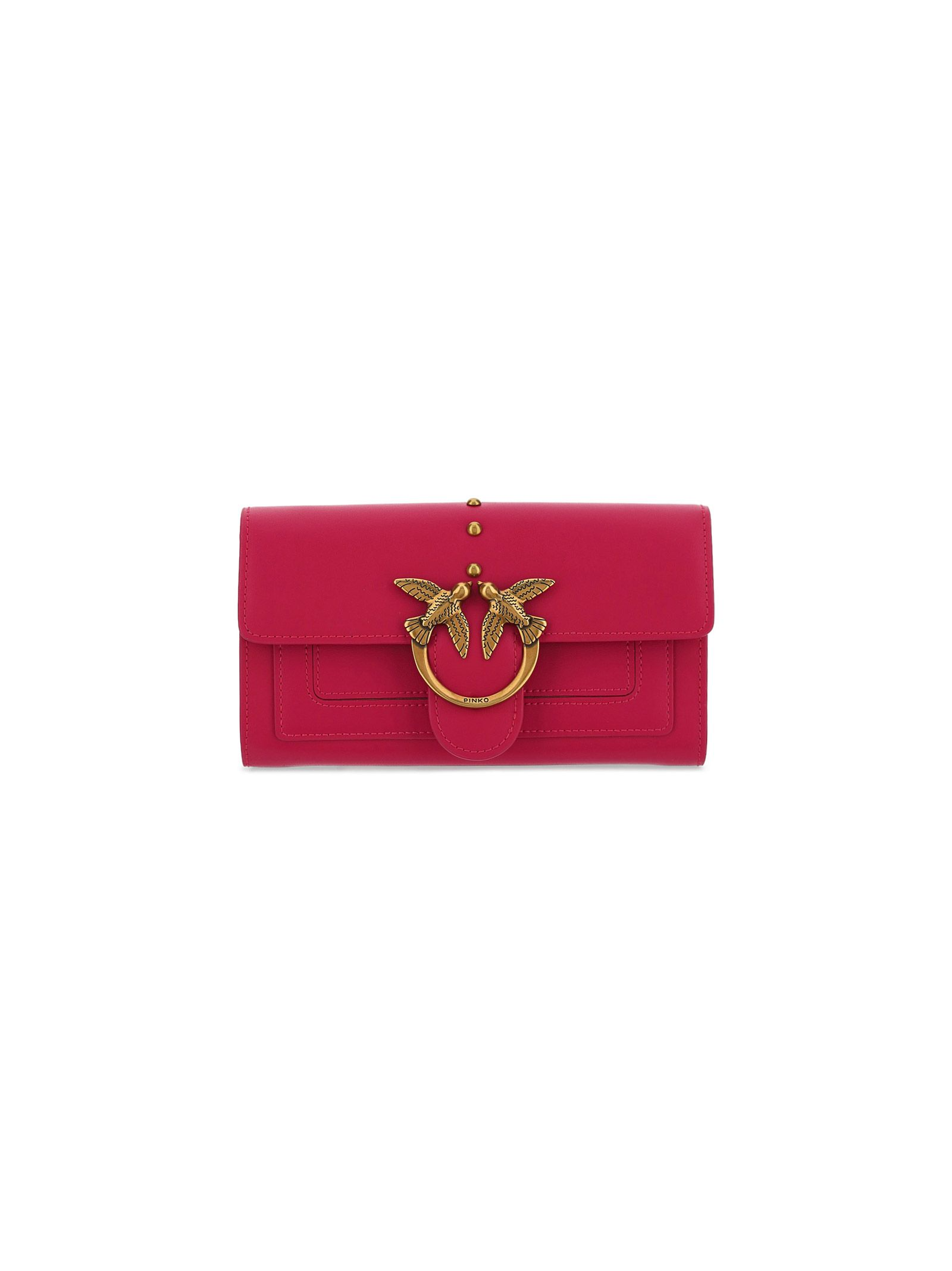 Pinko PINKO WOMEN'S PINK LEATHER WALLET