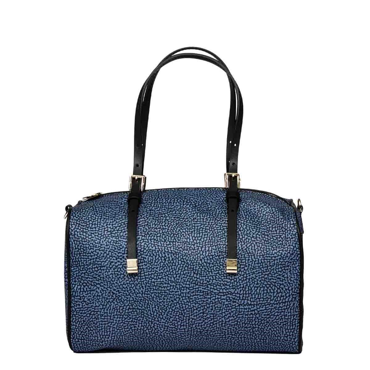 Borbonese Handbags BORBONESE WOMEN'S BLUE POLYESTER HANDBAG