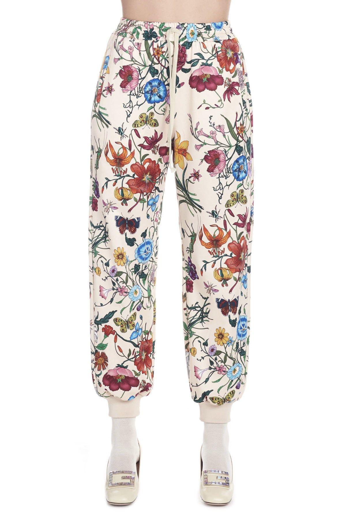 bfbef02e284c2 Gucci Women's 550650Xjam09381 White Cotton Joggers In Neutrals ...