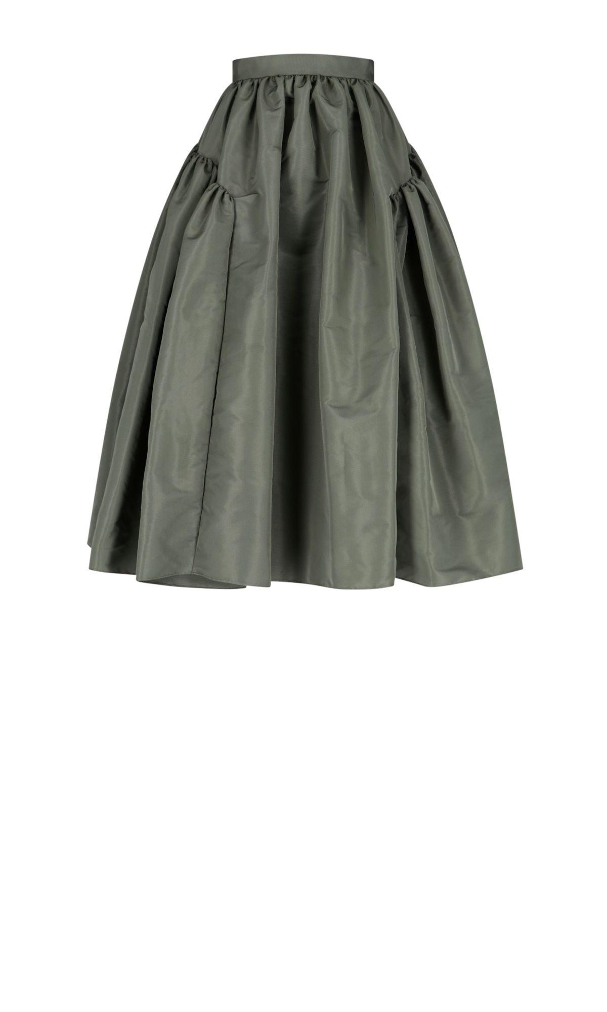 Alexander Mcqueen Women's 665397qeacm3009 Green Polyester Skirt