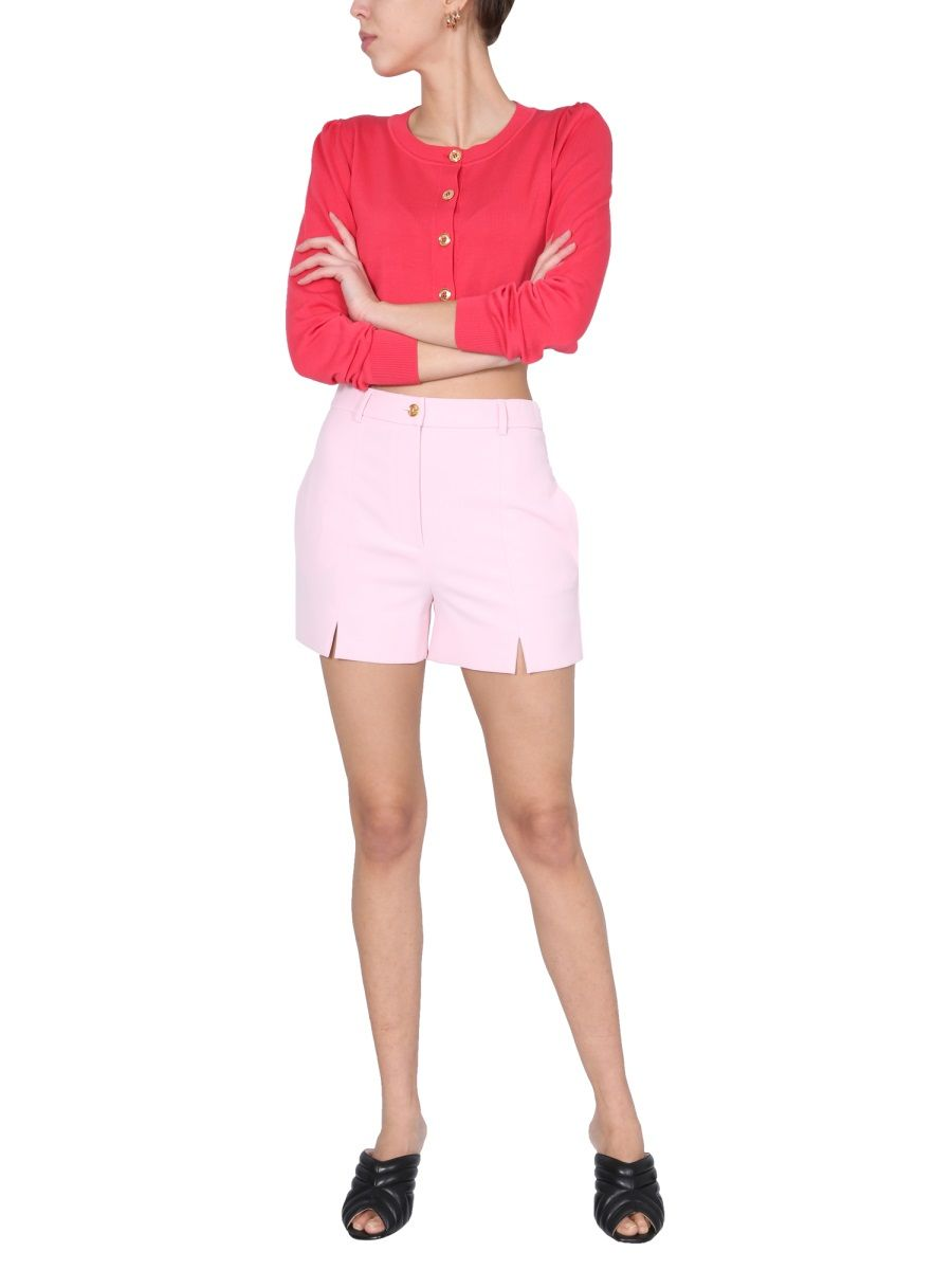 BOUTIQUE MOSCHINO Cottons BOUTIQUE MOSCHINO WOMEN'S FUCHSIA OTHER MATERIALS CARDIGAN