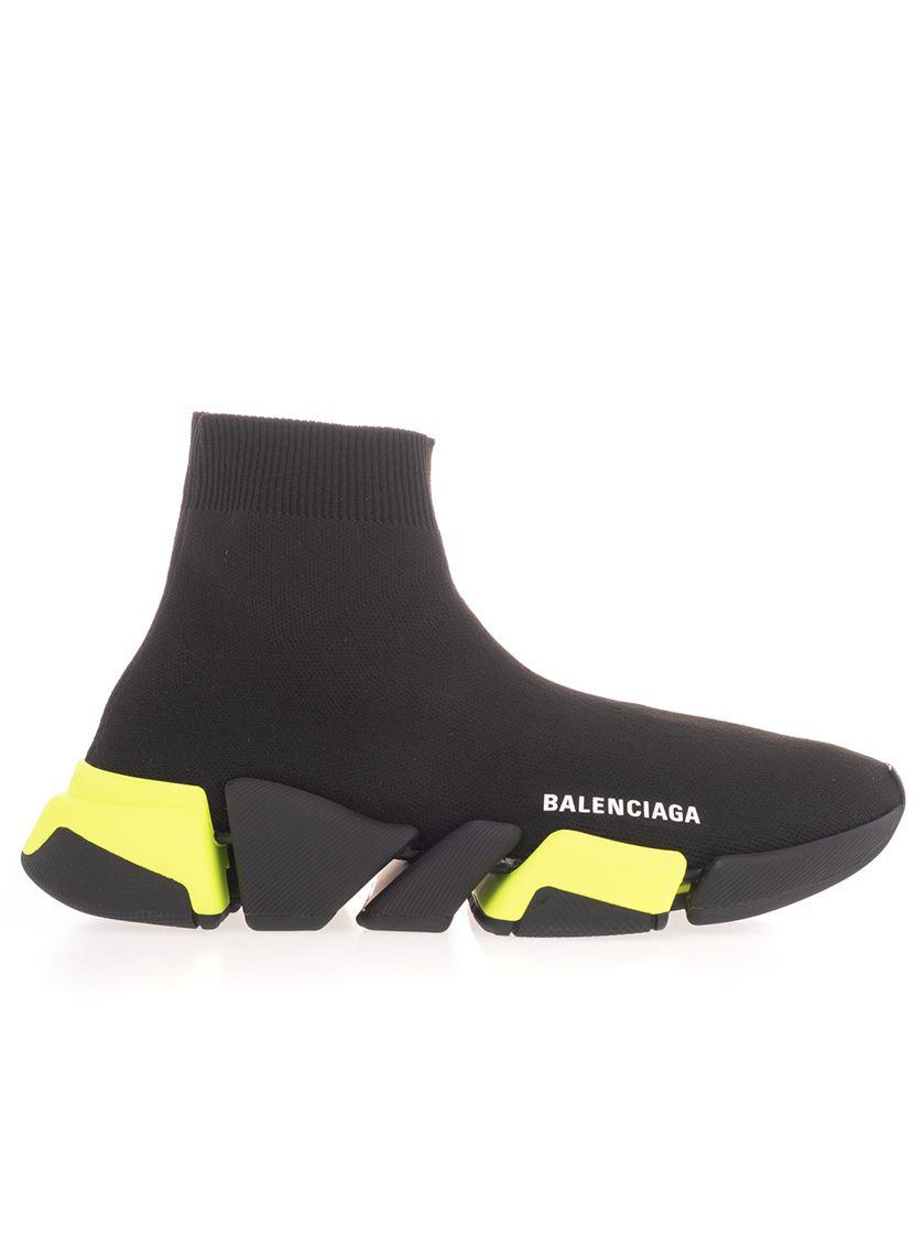 Balenciaga BALENCIAGA WOMEN'S BLACK SYNTHETIC FIBERS HI TOP SNEAKERS