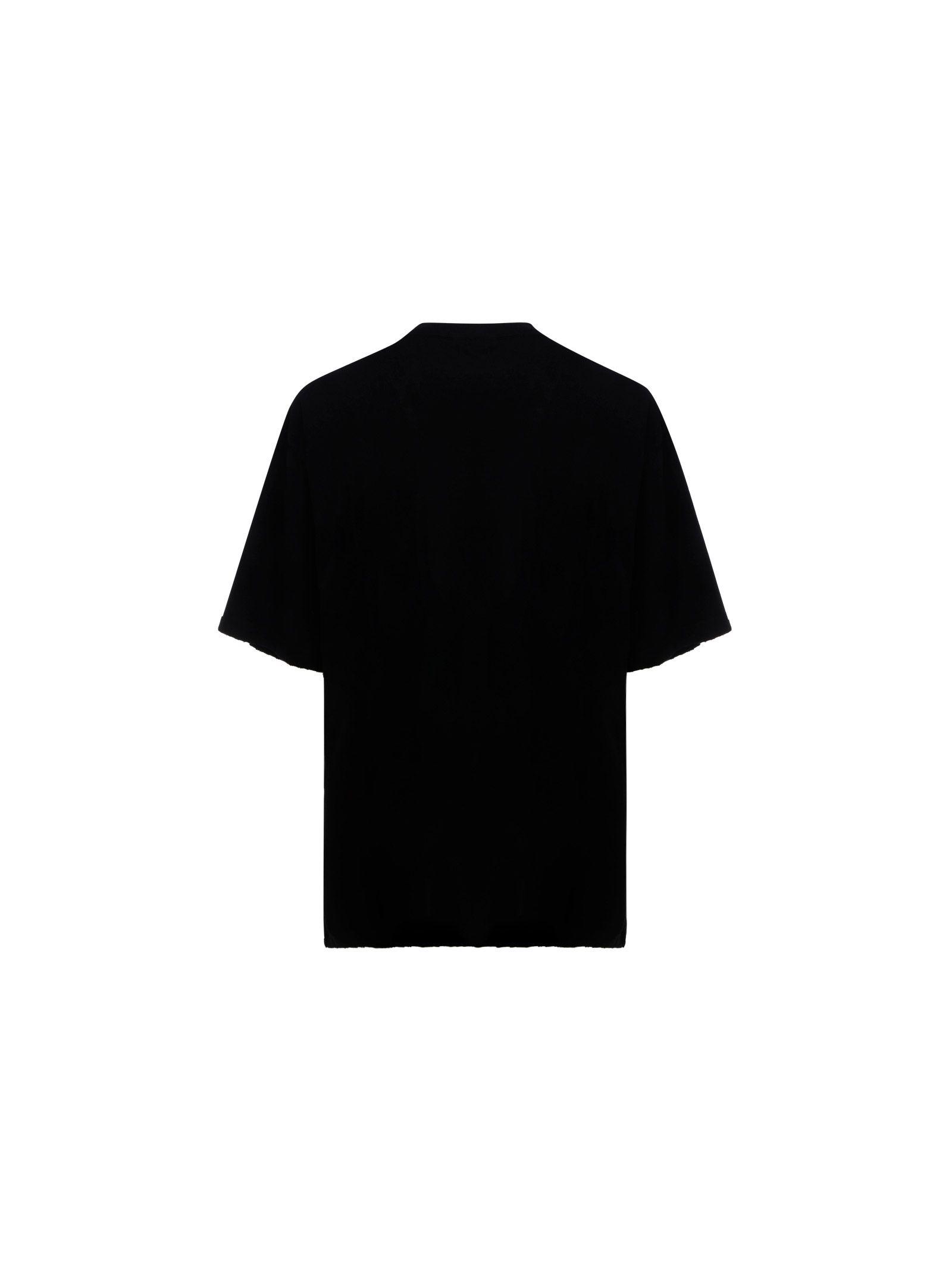 BALENCIAGA Cottons BALENCIAGA MEN'S BLACK COTTON T-SHIRT