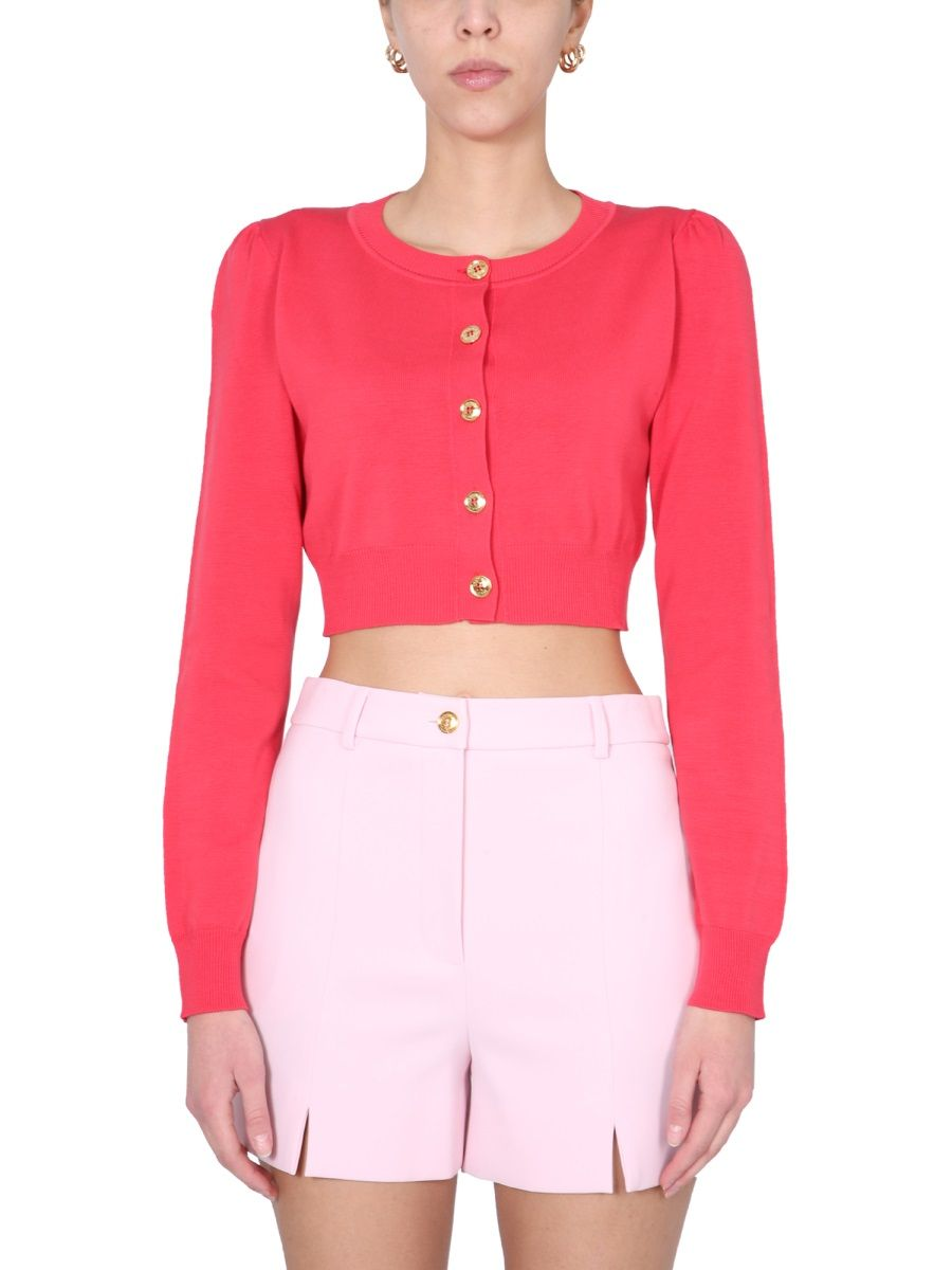 Boutique Moschino BOUTIQUE MOSCHINO WOMEN'S FUCHSIA OTHER MATERIALS CARDIGAN