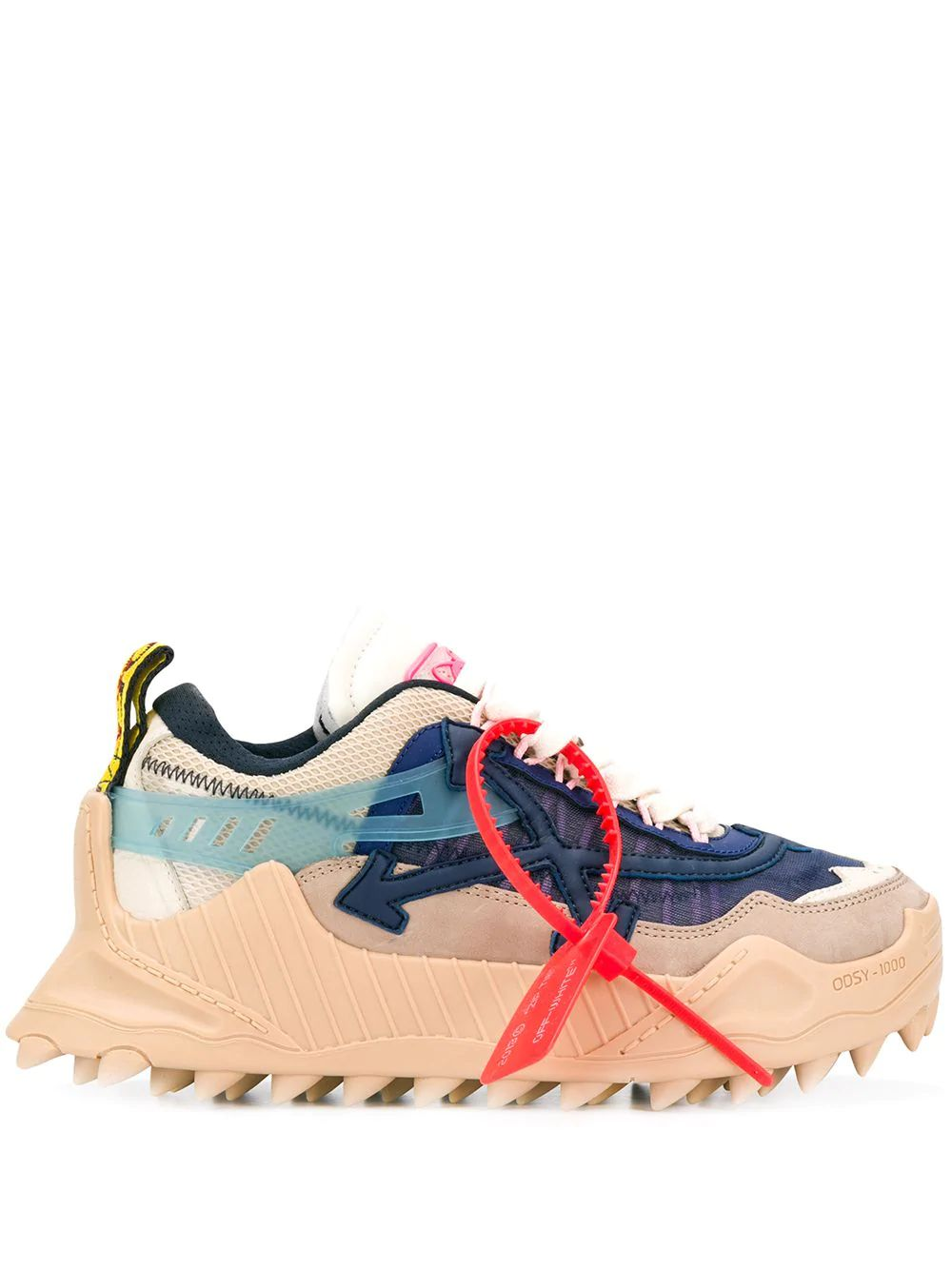 OFF-WHITE BEIGE LEATHER SNEAKERS