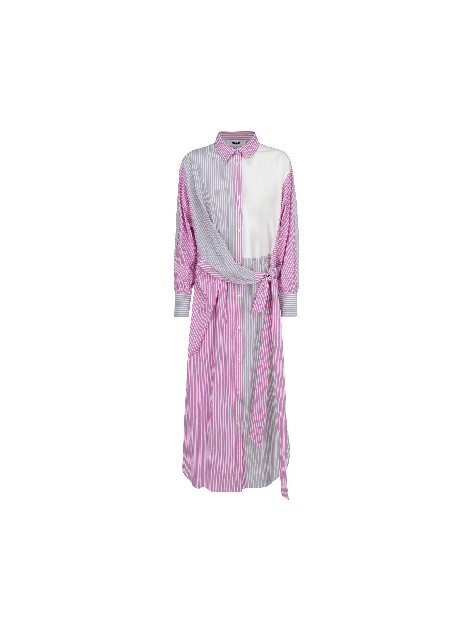 Msgm Downs MSGM WOMEN'S PINK COTTON DRESS
