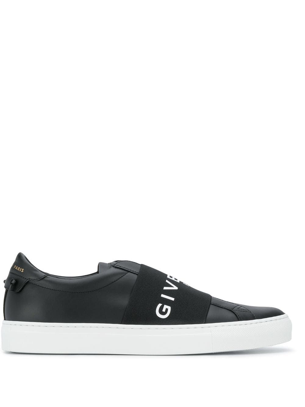 Givenchy Urban Street Logo-Print Leather Slip-On Sneakers In Black