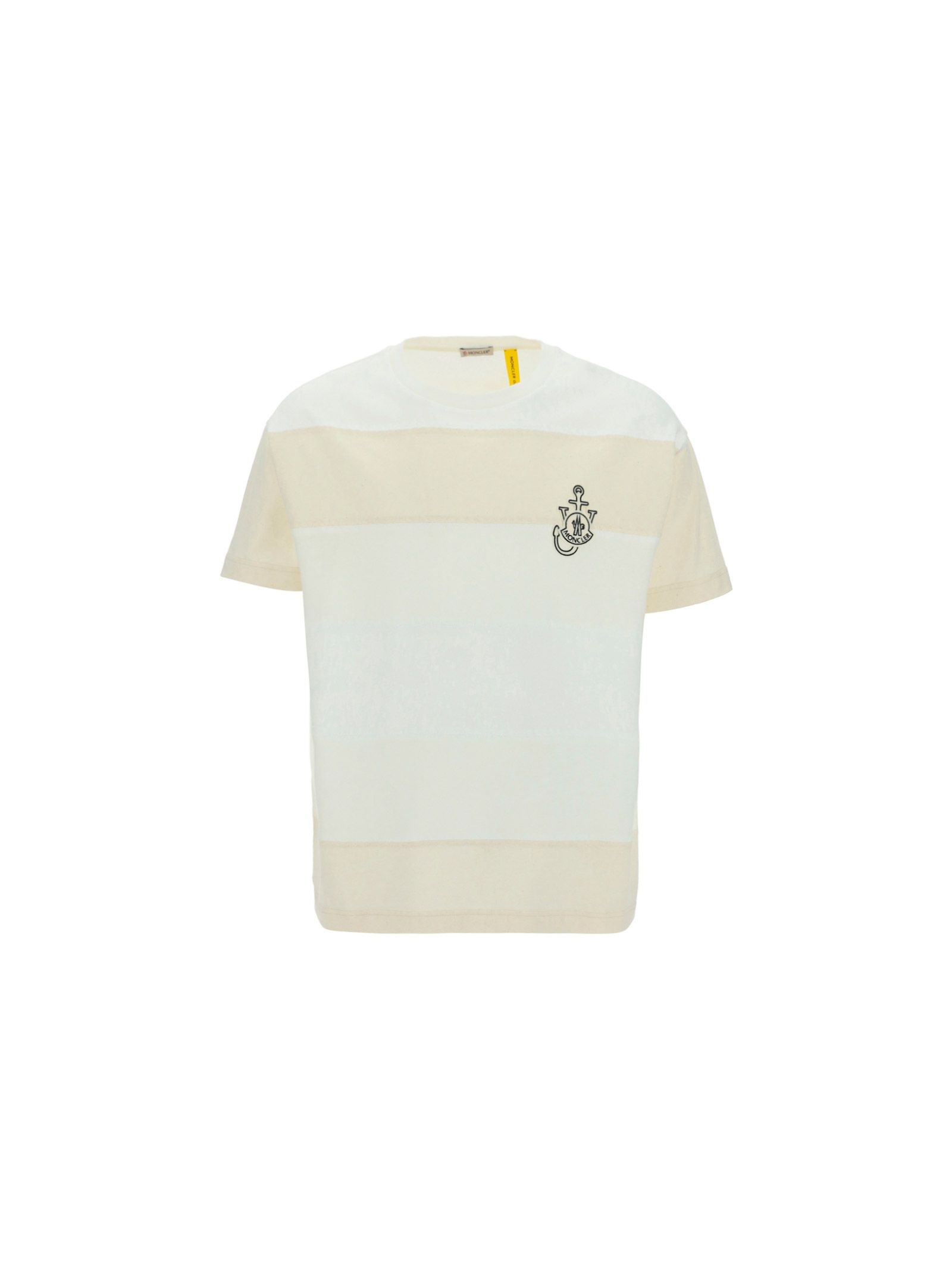 Moncler MONCLER MEN'S WHITE OTHER MATERIALS T-SHIRT