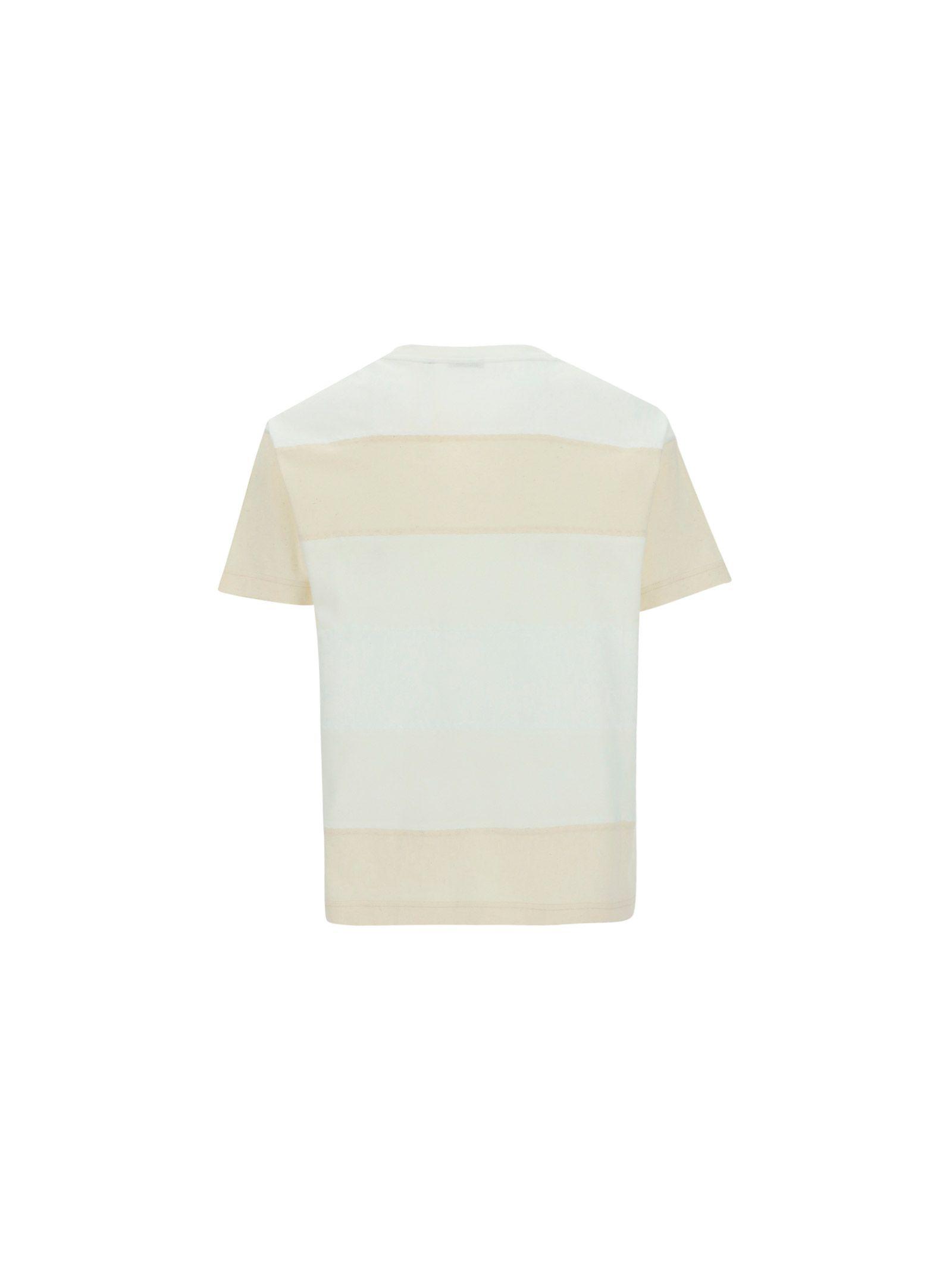 MONCLER Cottons MONCLER MEN'S WHITE OTHER MATERIALS T-SHIRT