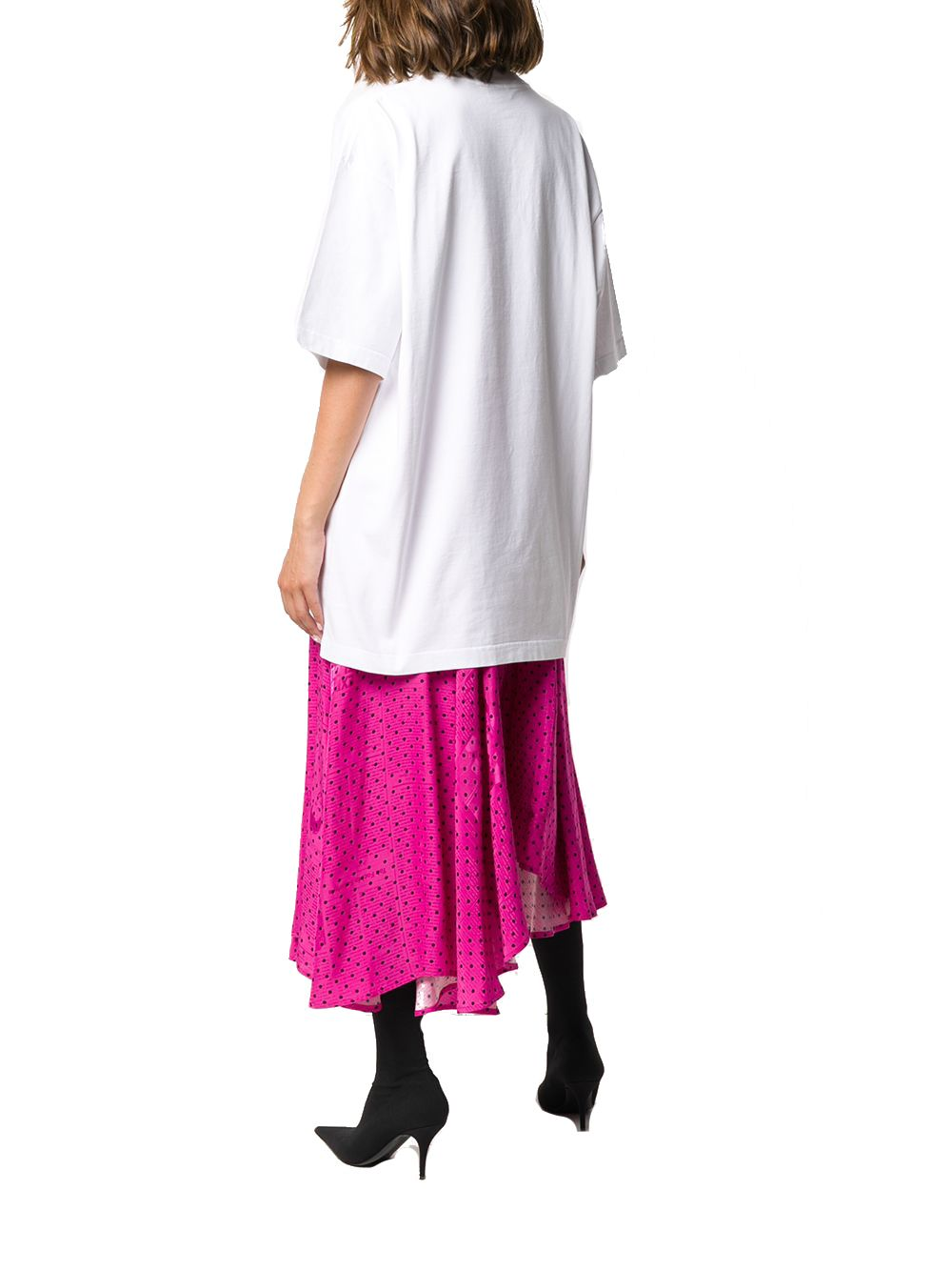 BALENCIAGA Cottons BALENCIAGA WOMEN'S WHITE COTTON T-SHIRT