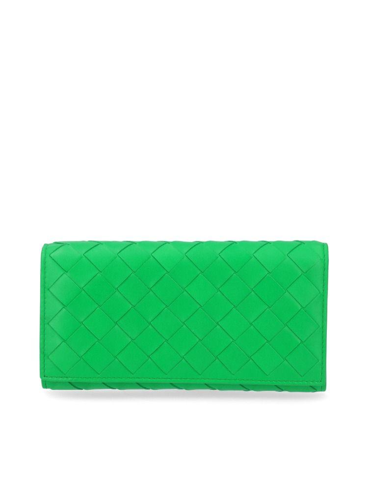 Bottega Veneta Women's Green Leather Wallet