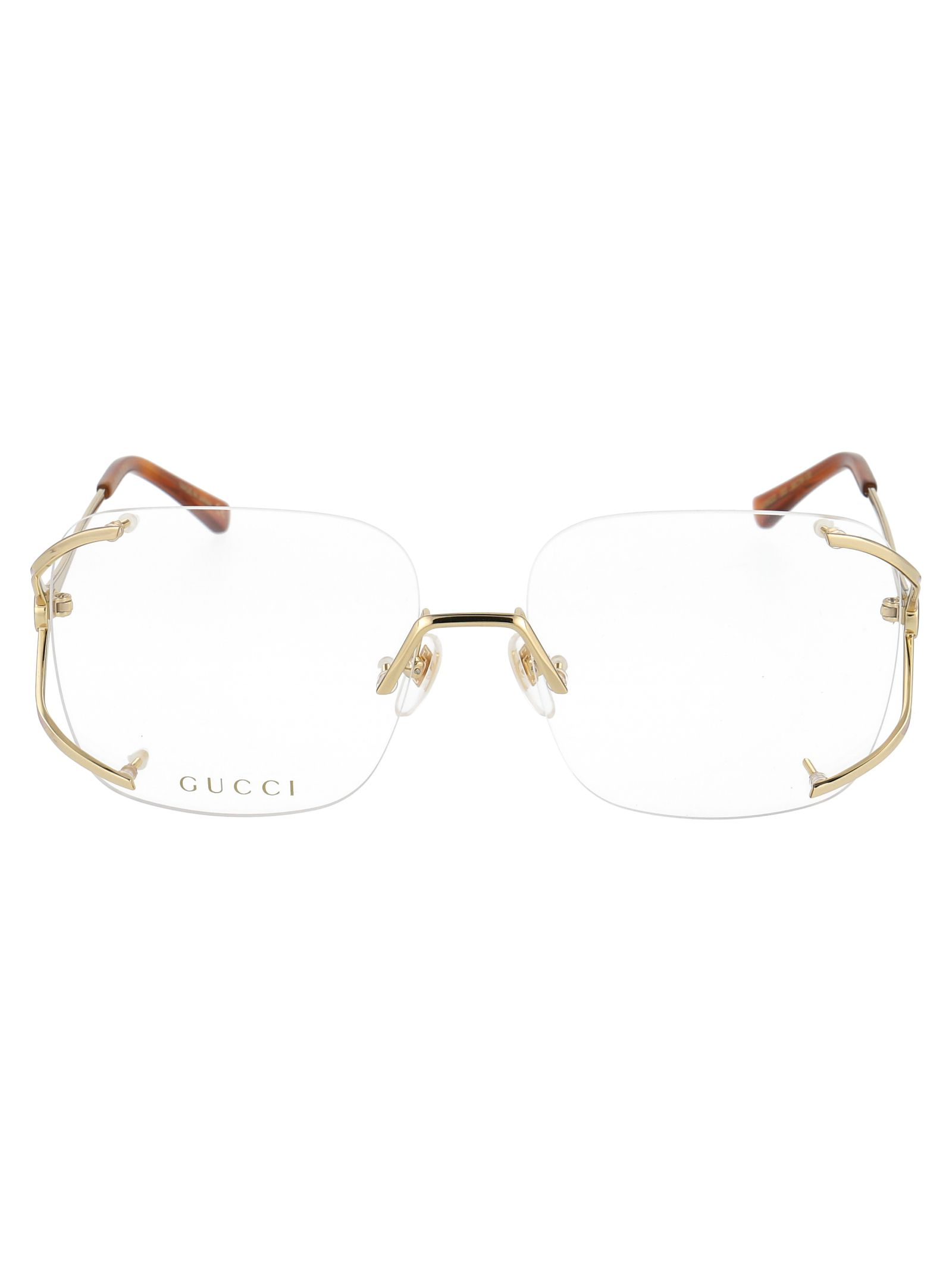 GUCCI GUCCI WOMEN'S BLUE METAL GLASSES