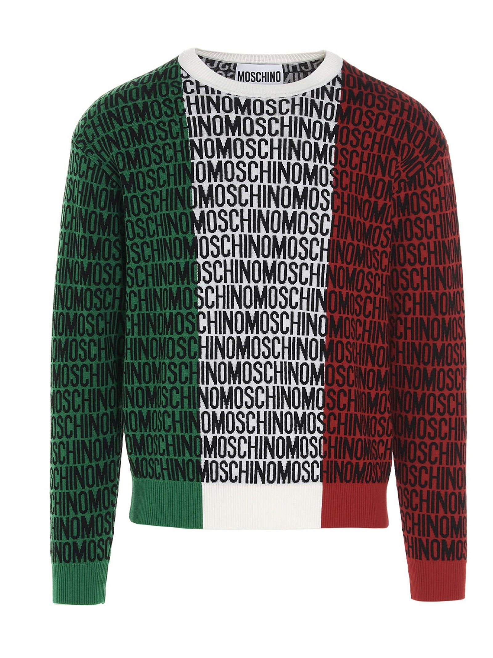 Moschino MOSCHINO MEN'S MULTICOLOR OTHER MATERIALS SWEATER