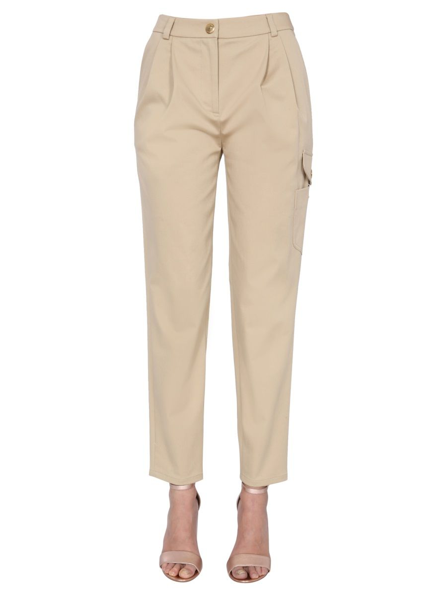 Boutique Moschino BOUTIQUE MOSCHINO WOMEN'S BEIGE OTHER MATERIALS PANTS
