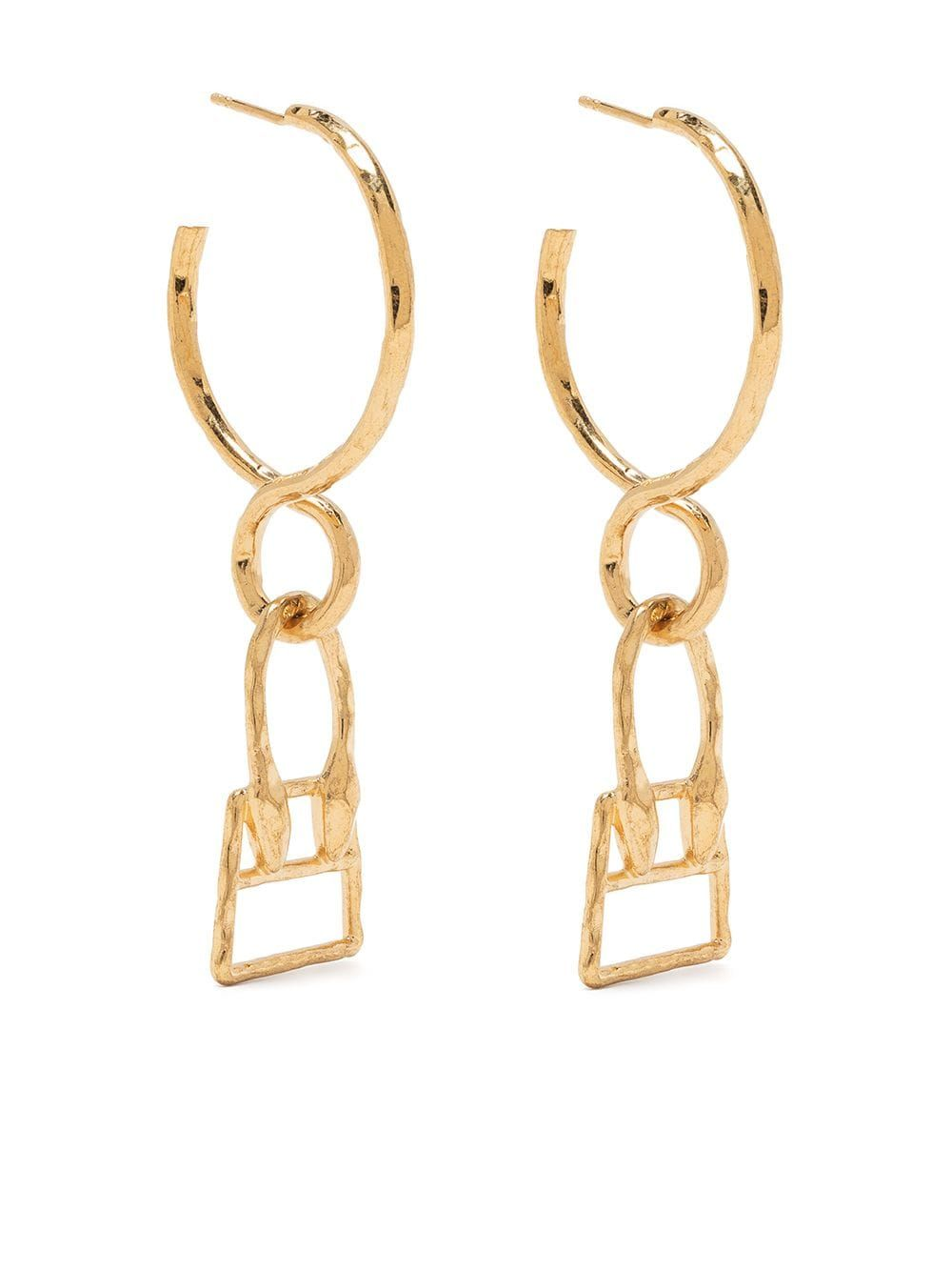Jacquemus JACQUEMUS WOMEN'S GOLD METAL EARRINGS