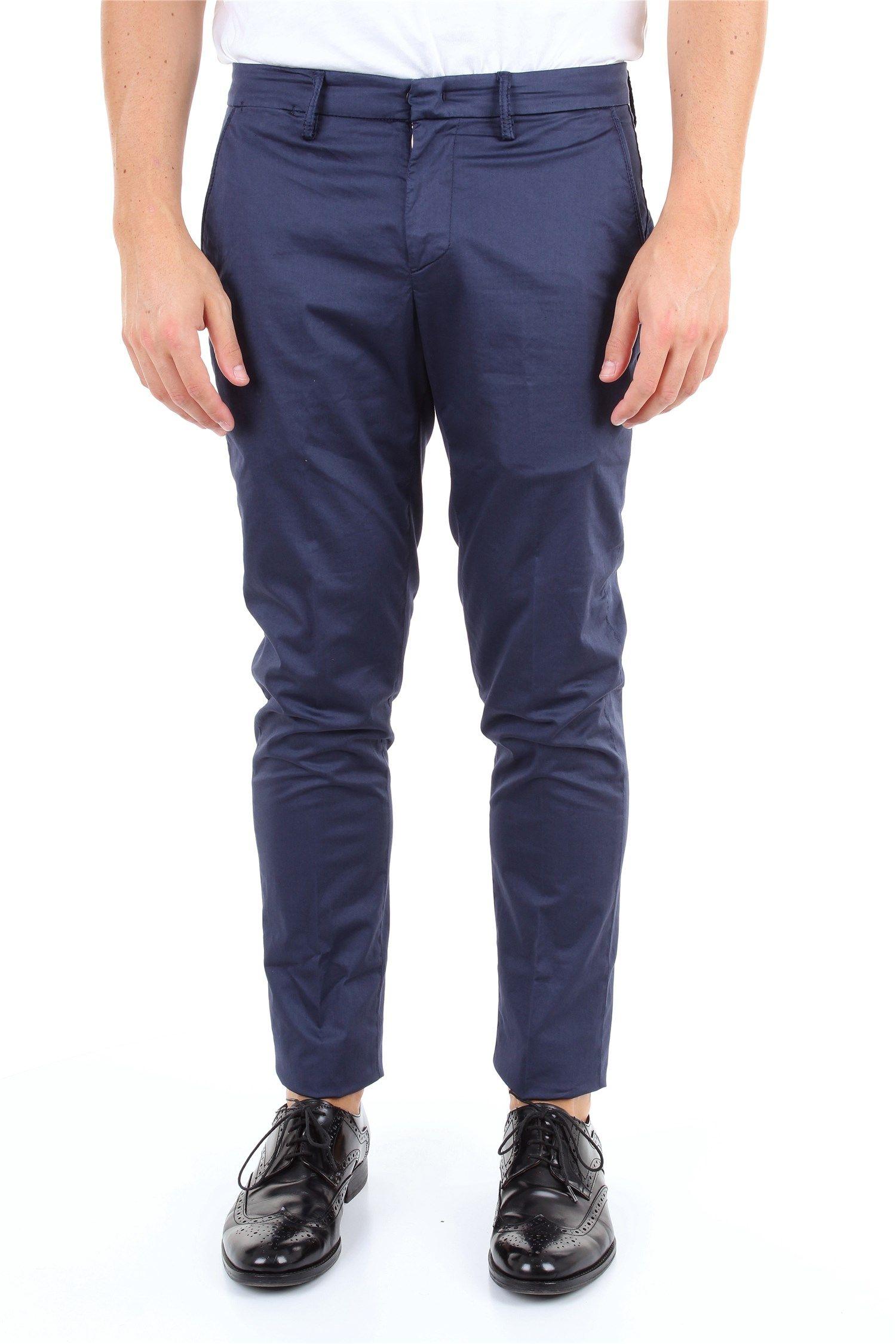 Dondup Blue Cotton Pants