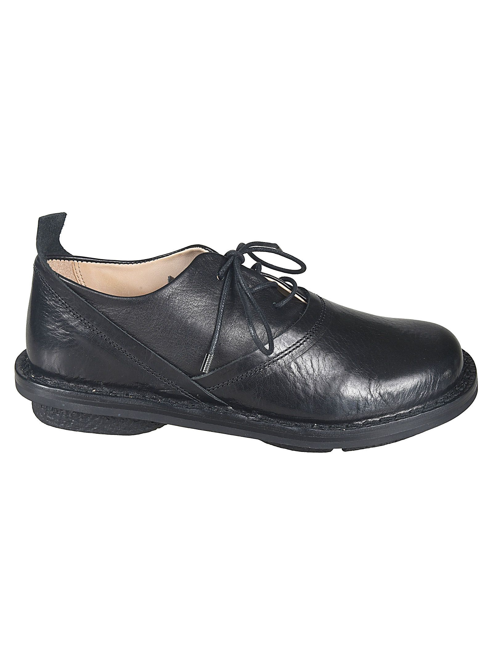 Trippen TRIPPEN WOMEN'S BLACK LEATHER LACE-UP SHOES